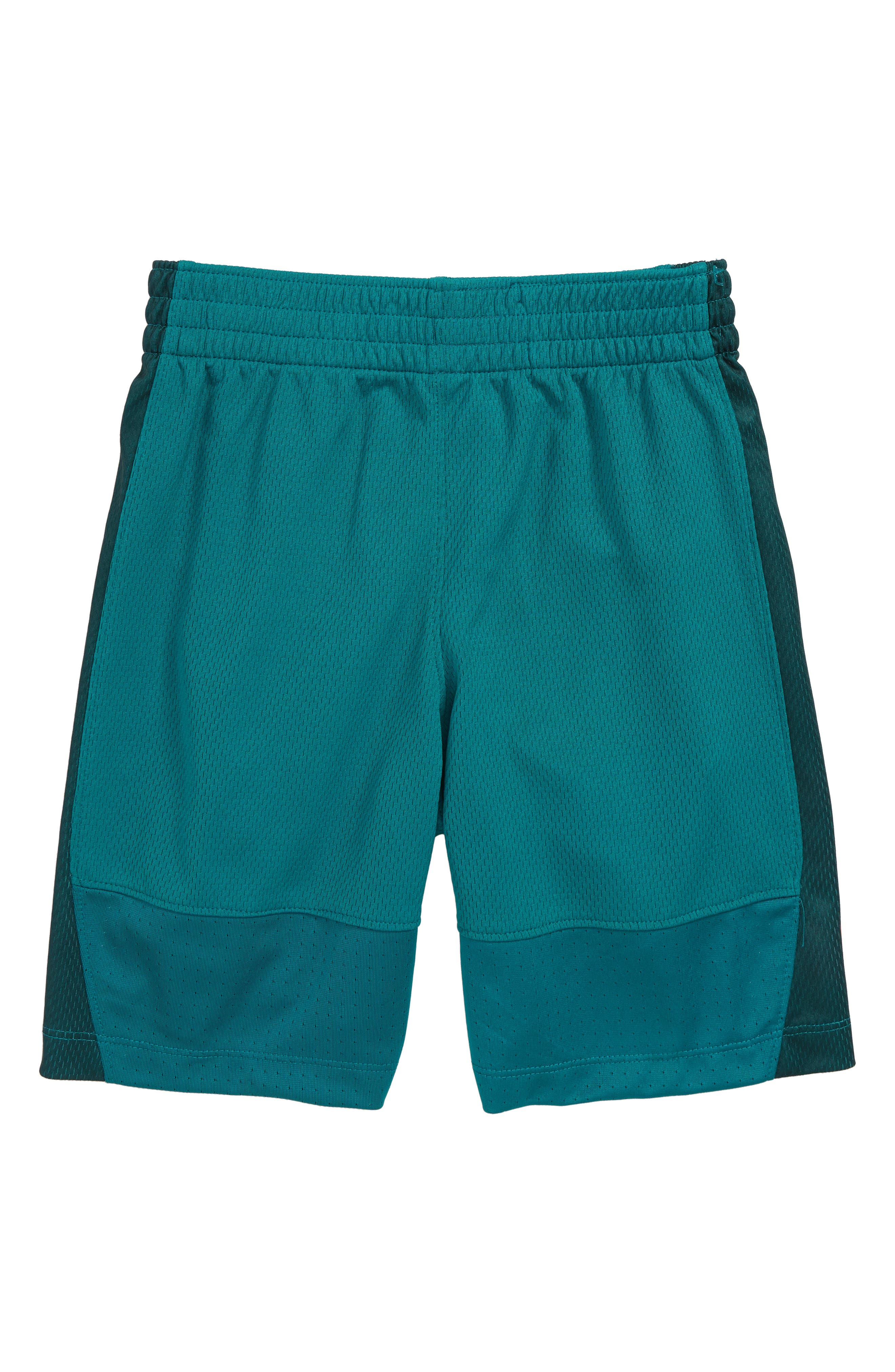 Dry Elite Basketball Shorts,                             Alternate thumbnail 2, color,                             GEODE TEAL/ CONE