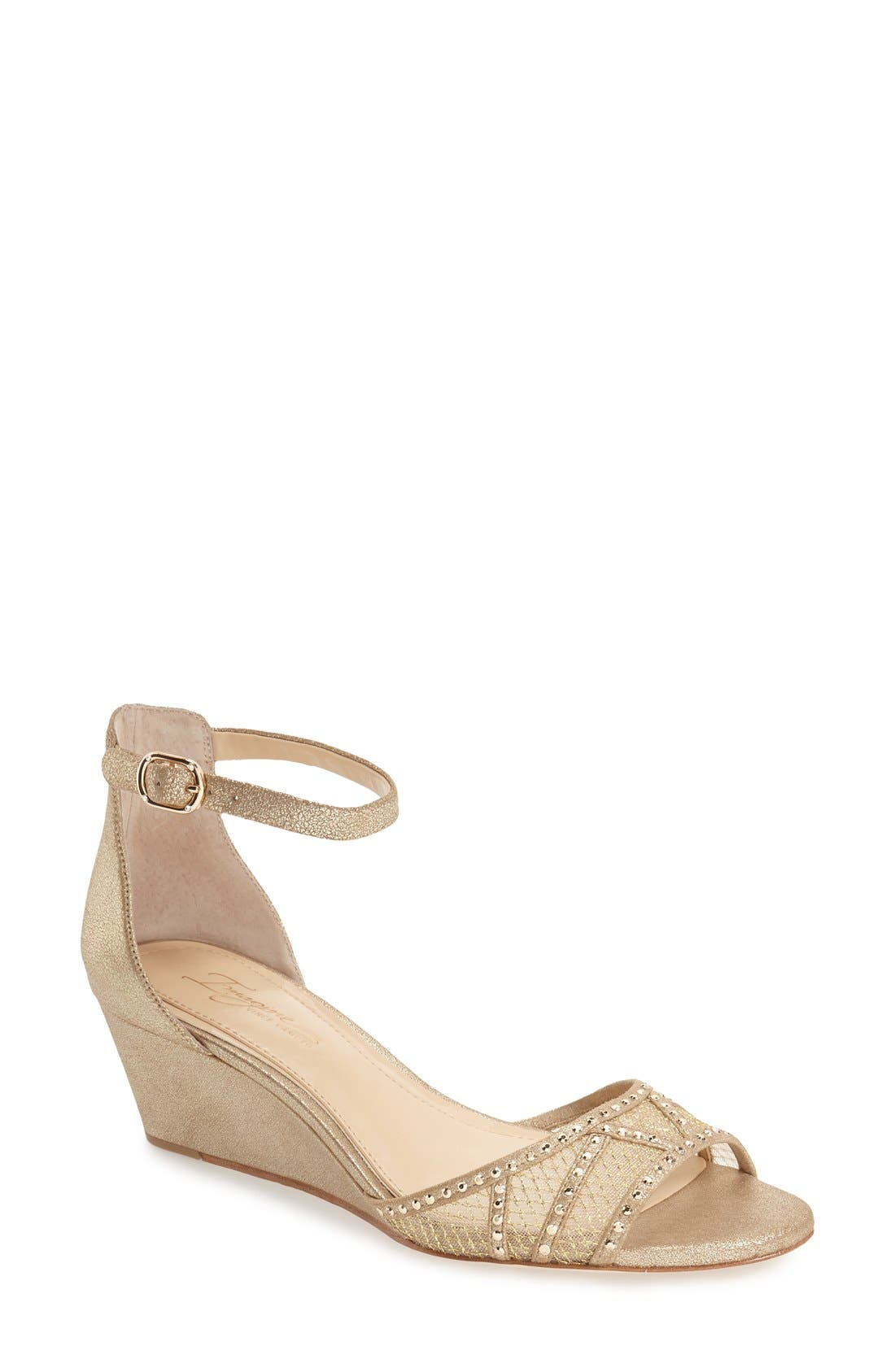 'Joan' Studded Wedge Sandal,                             Main thumbnail 2, color,