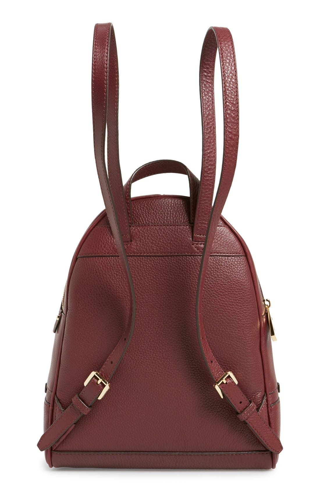 'Extra Small Rhea Zip' Leather Backpack,                             Alternate thumbnail 34, color,