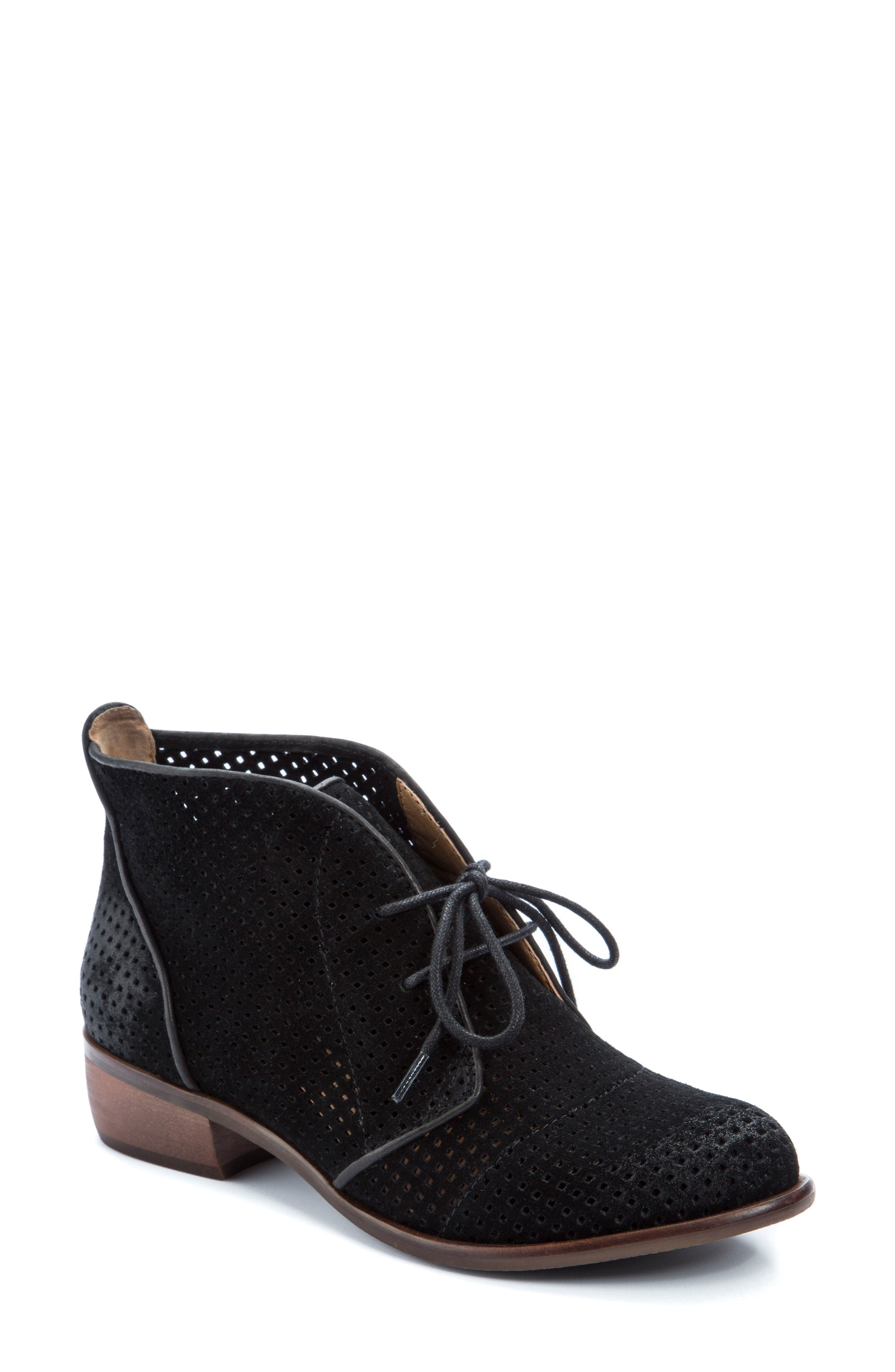 Isaac Lace-Up Bootie,                             Main thumbnail 1, color,                             001