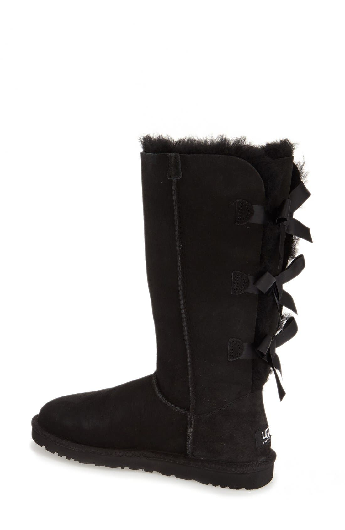 UGG<SUP>®</SUP>,                             'Bailey Bow' Tall Boot,                             Alternate thumbnail 4, color,                             001