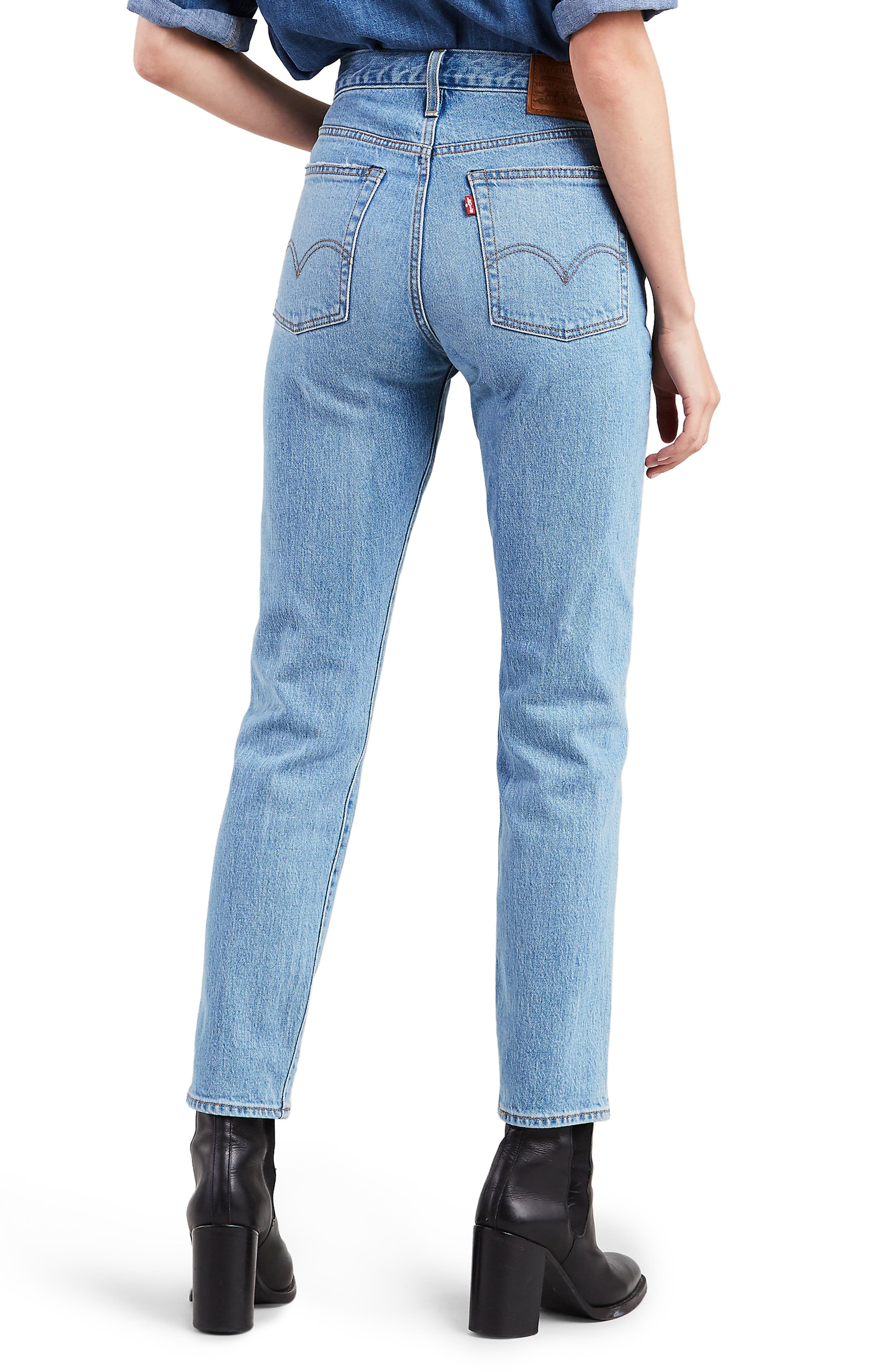 LEVI'S<SUP>®</SUP>,                             Wedgie Icon Fit High Waist Ankle Jeans,                             Alternate thumbnail 2, color,                             BRIGHT SIDE