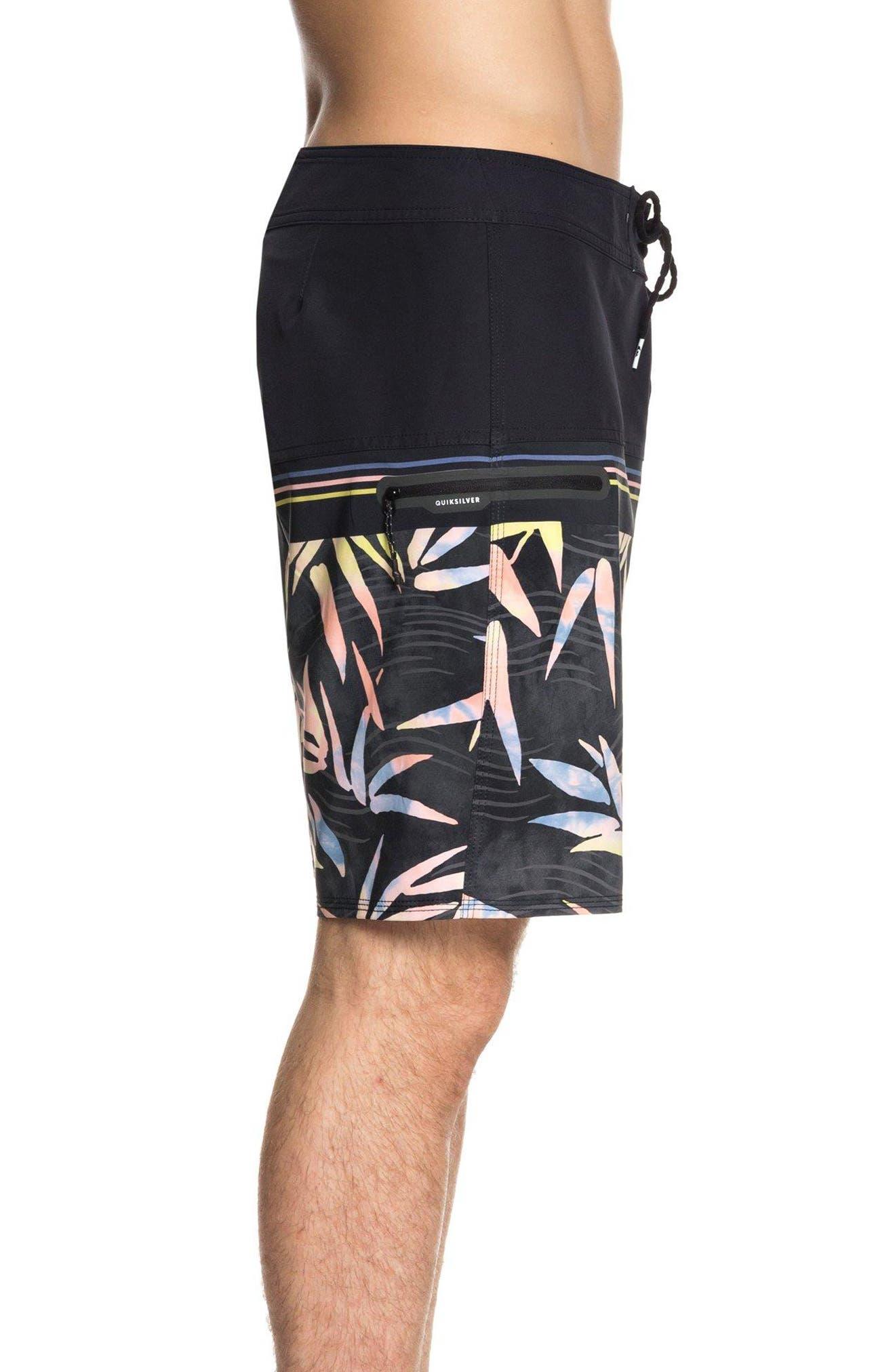 Quilsilver Highline Zen Division Board Shorts,                             Alternate thumbnail 3, color,                             BLACK