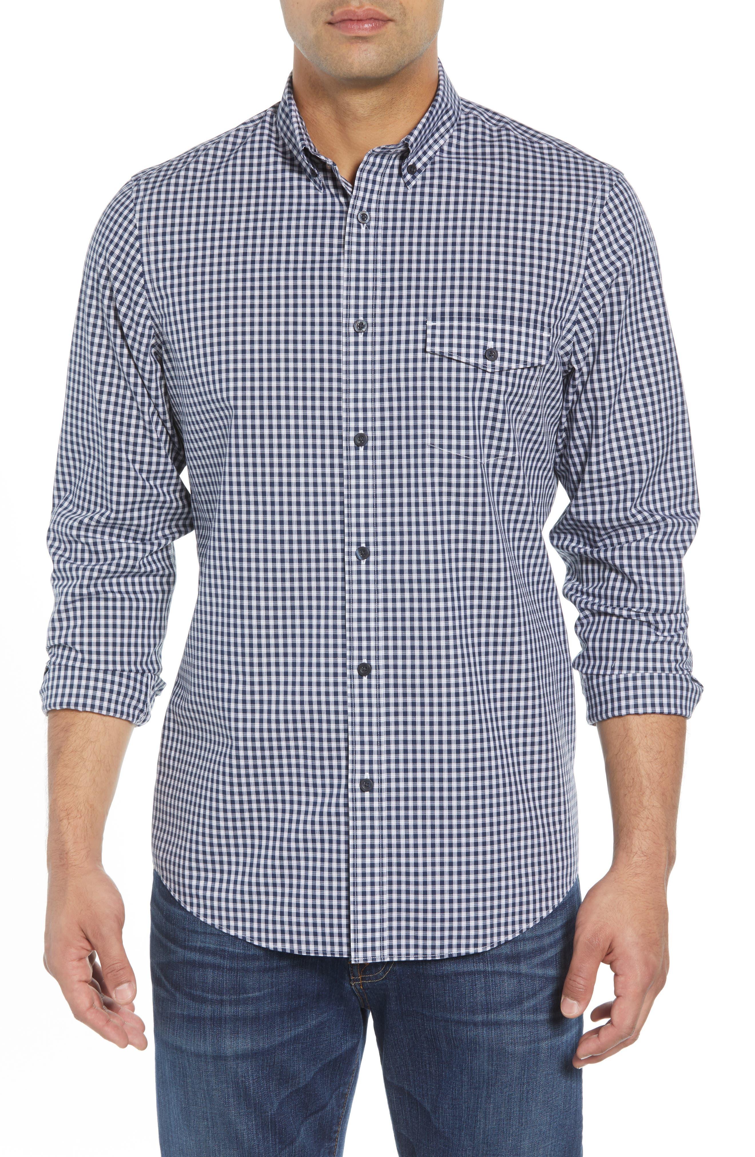 Nordstrom Shop Ivy Regular Fit Check Sport Shirt