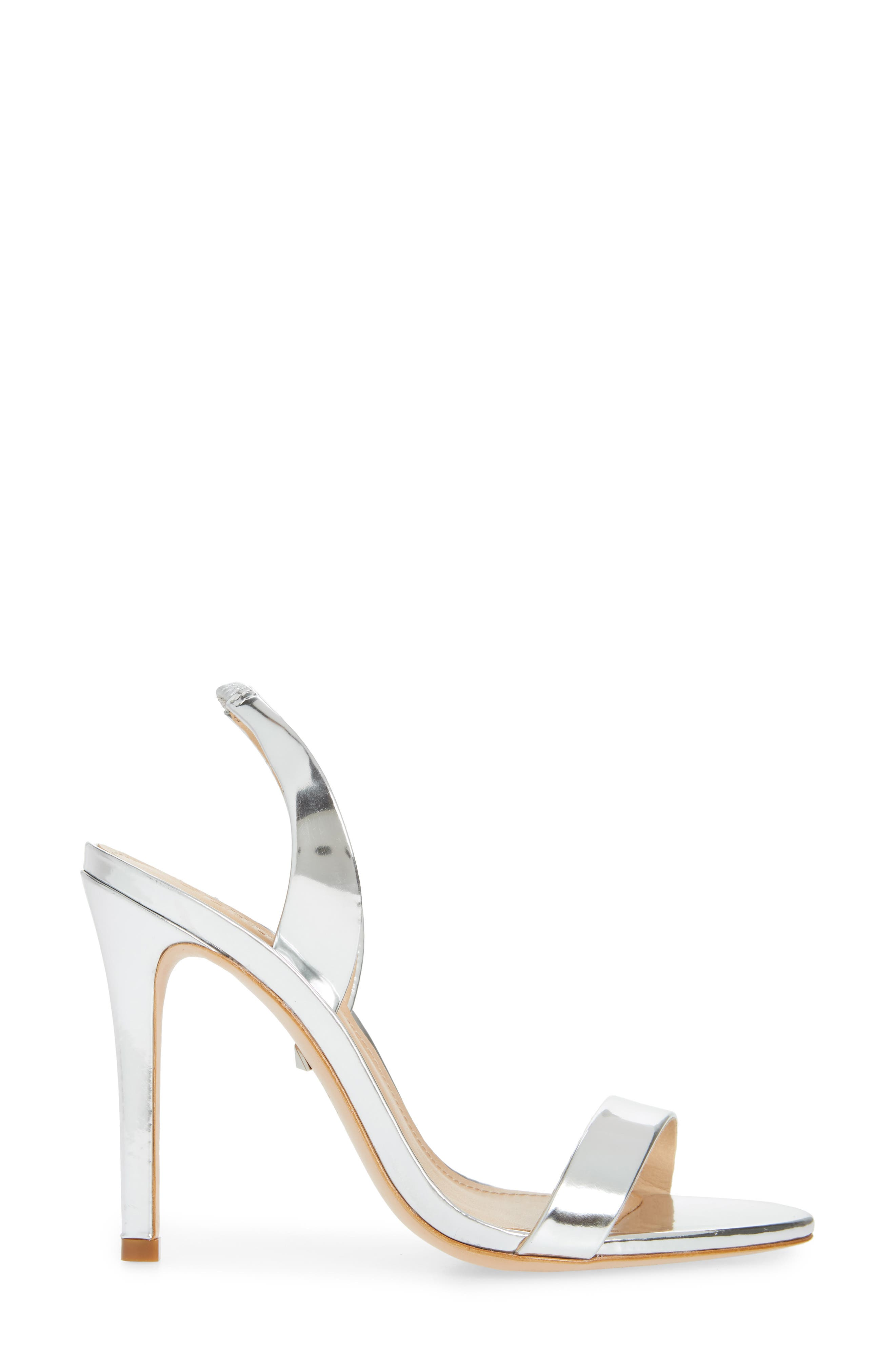 Luriane Sandal,                             Alternate thumbnail 3, color,                             SILVER PATENT LEATHER