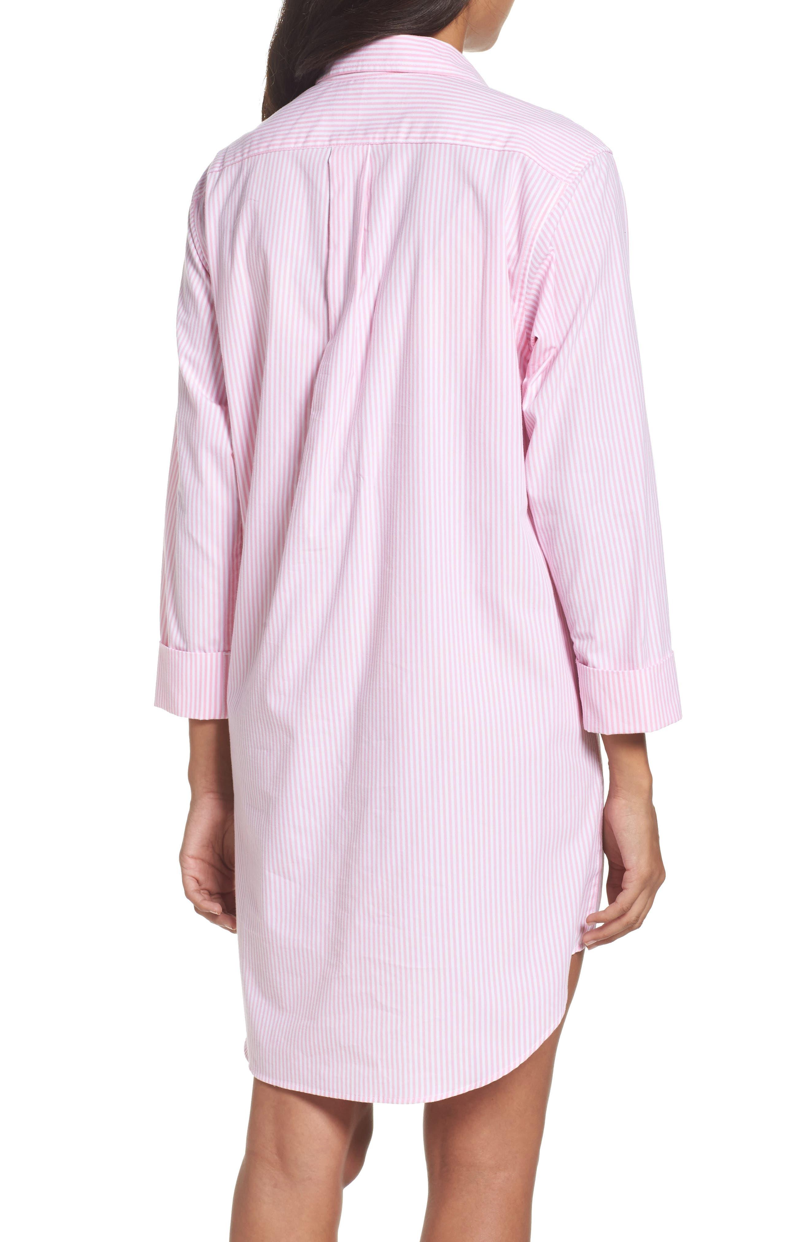 Cotton Poplin Sleep Shirt,                             Alternate thumbnail 6, color,