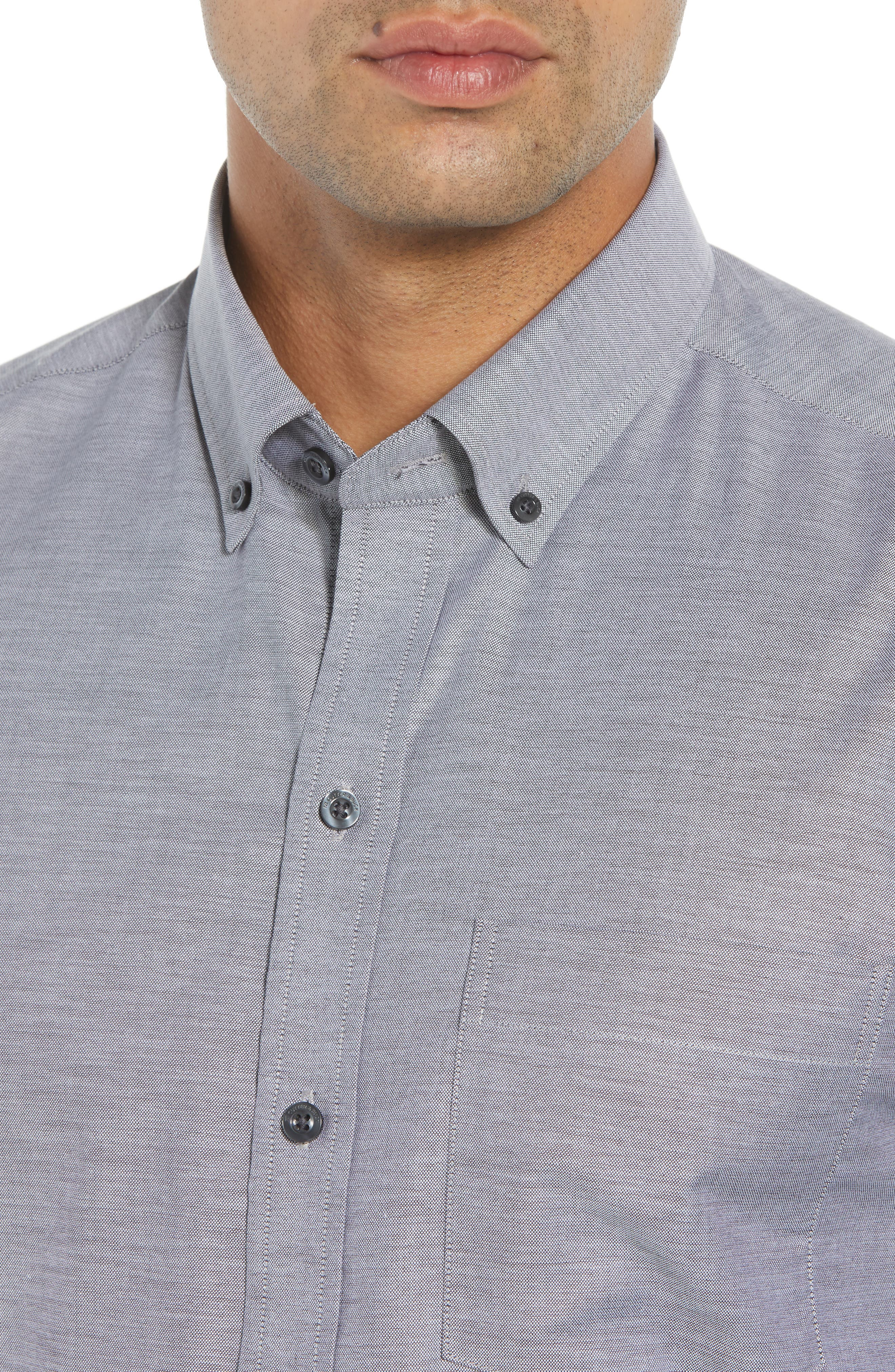 Tailor Regular Fit Oxford Sport Shirt,                             Alternate thumbnail 2, color,                             CHARCOAL 2