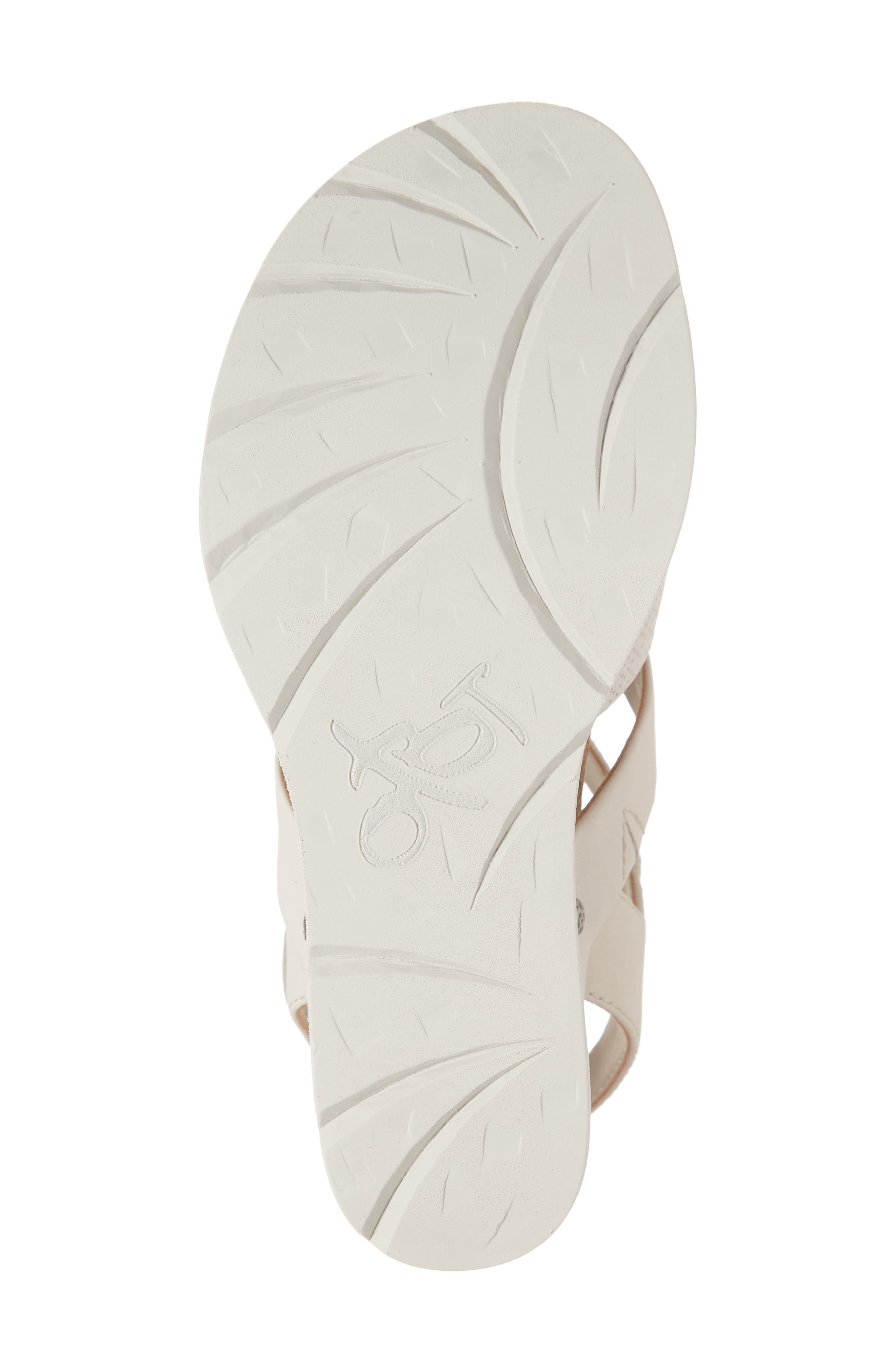 New Moon Wedge Sandal,                             Alternate thumbnail 6, color,                             DOVE GREY LEATHER