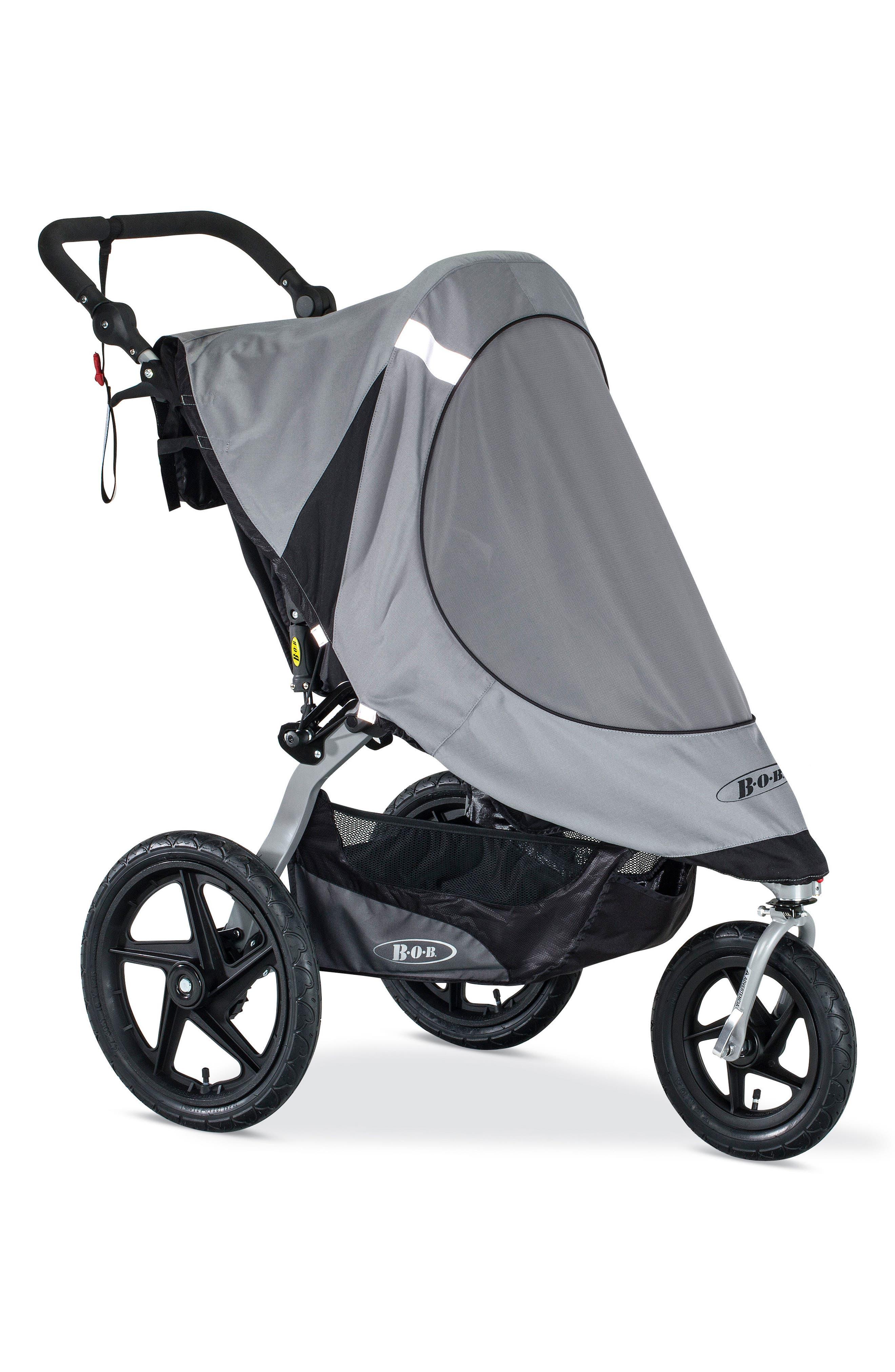 Revolution Single Jogging Stroller Sun Shield,                             Main thumbnail 1, color,                             BLACK