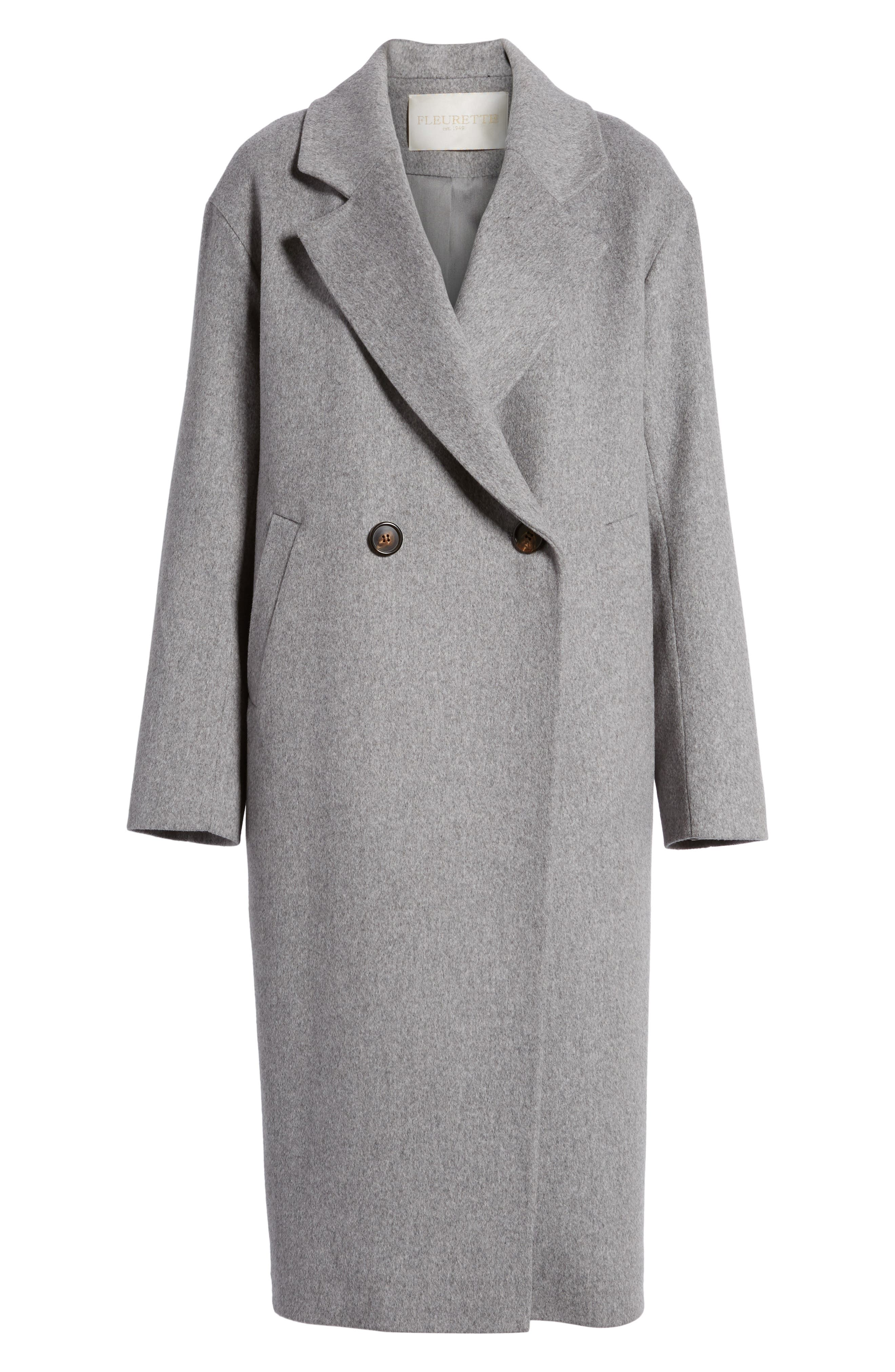 45 Loro Piana Wool Coat,                             Alternate thumbnail 5, color,                             080