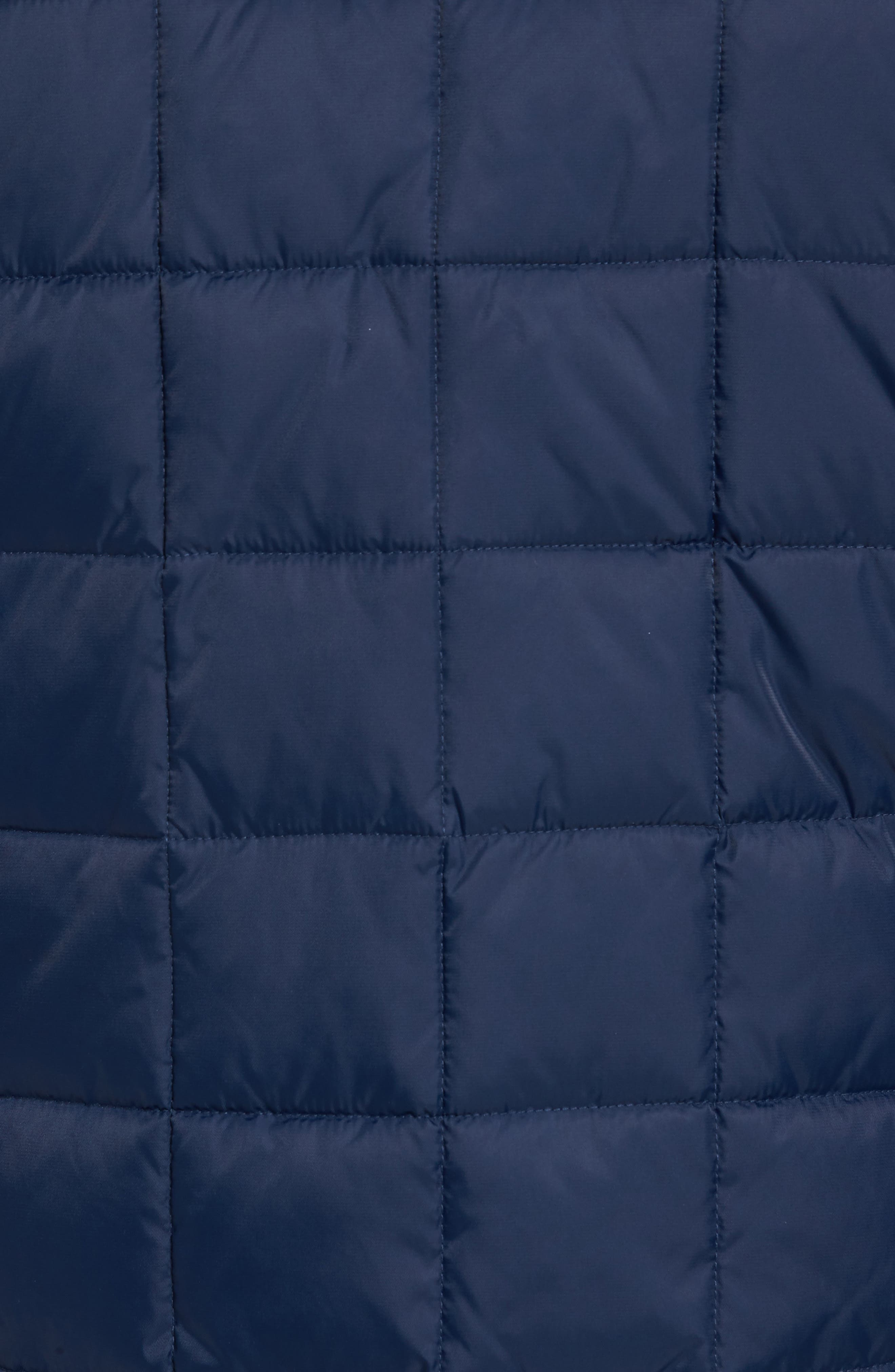 Box Quilted Jacket,                             Alternate thumbnail 6, color,                             NAVY
