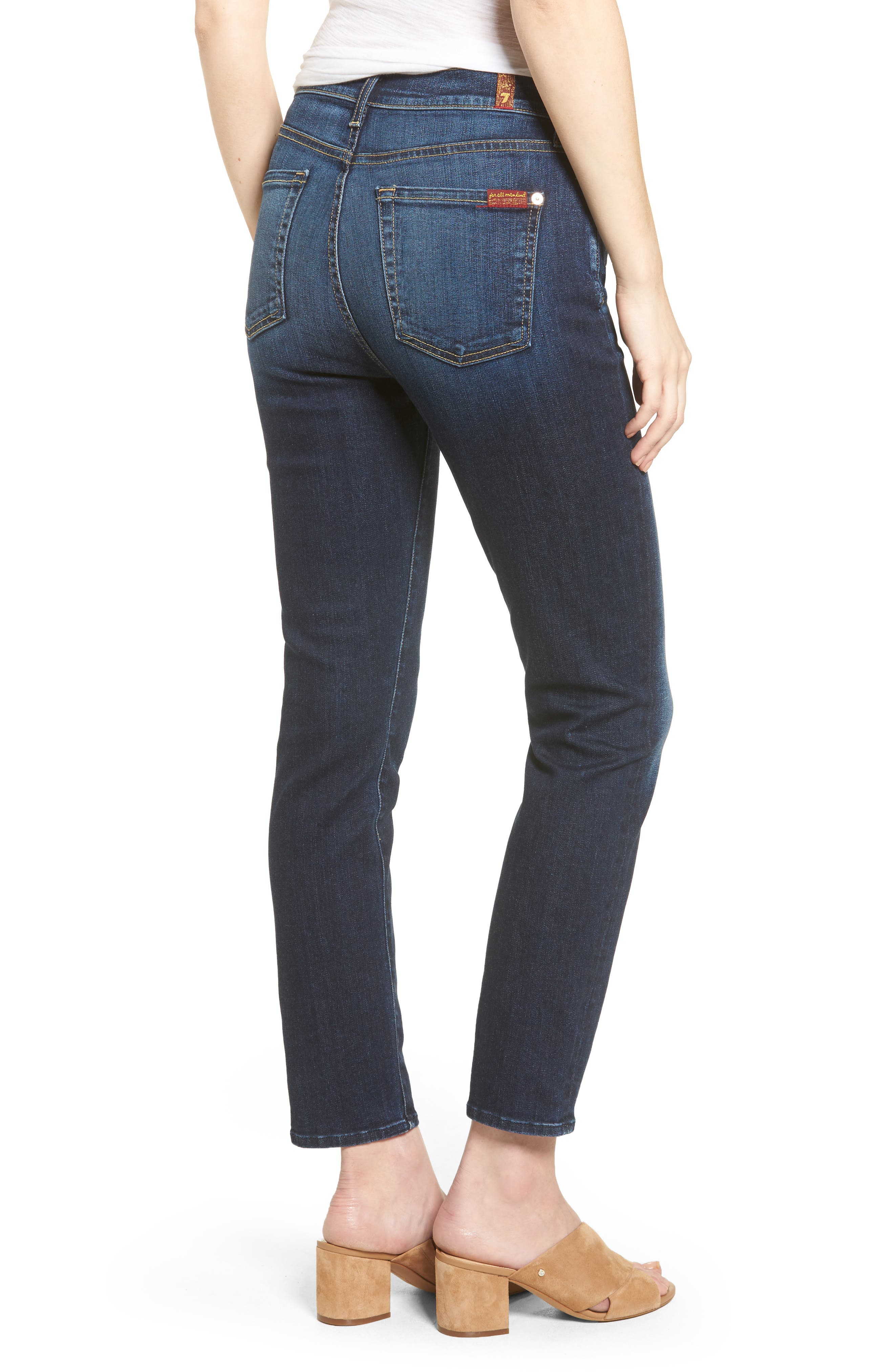 Seven7 Roxanne High Waist Ankle Jeans,                             Alternate thumbnail 2, color,                             401