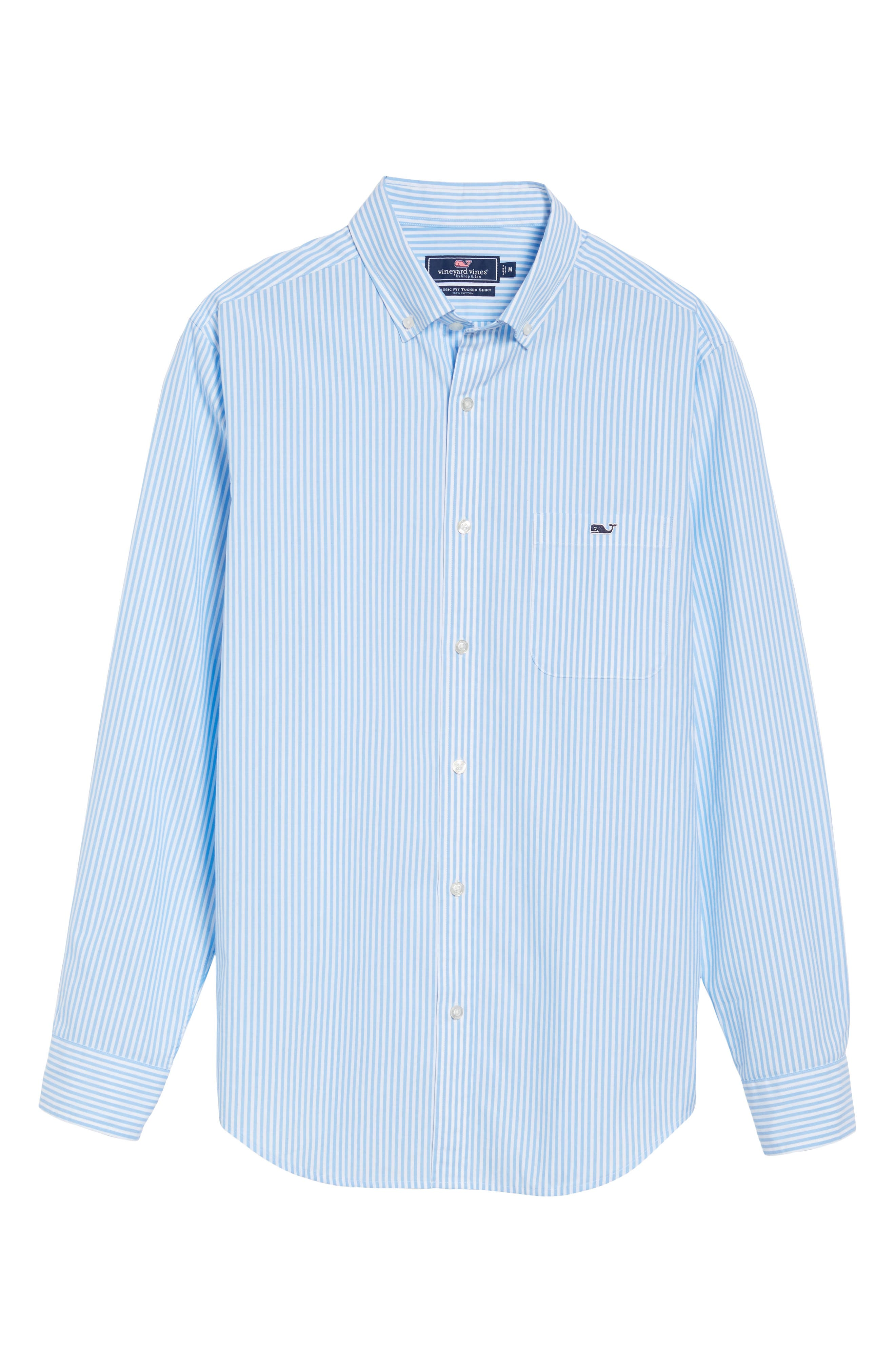 Swordfish Stripe Tucker Sport Shirt,                             Alternate thumbnail 6, color,