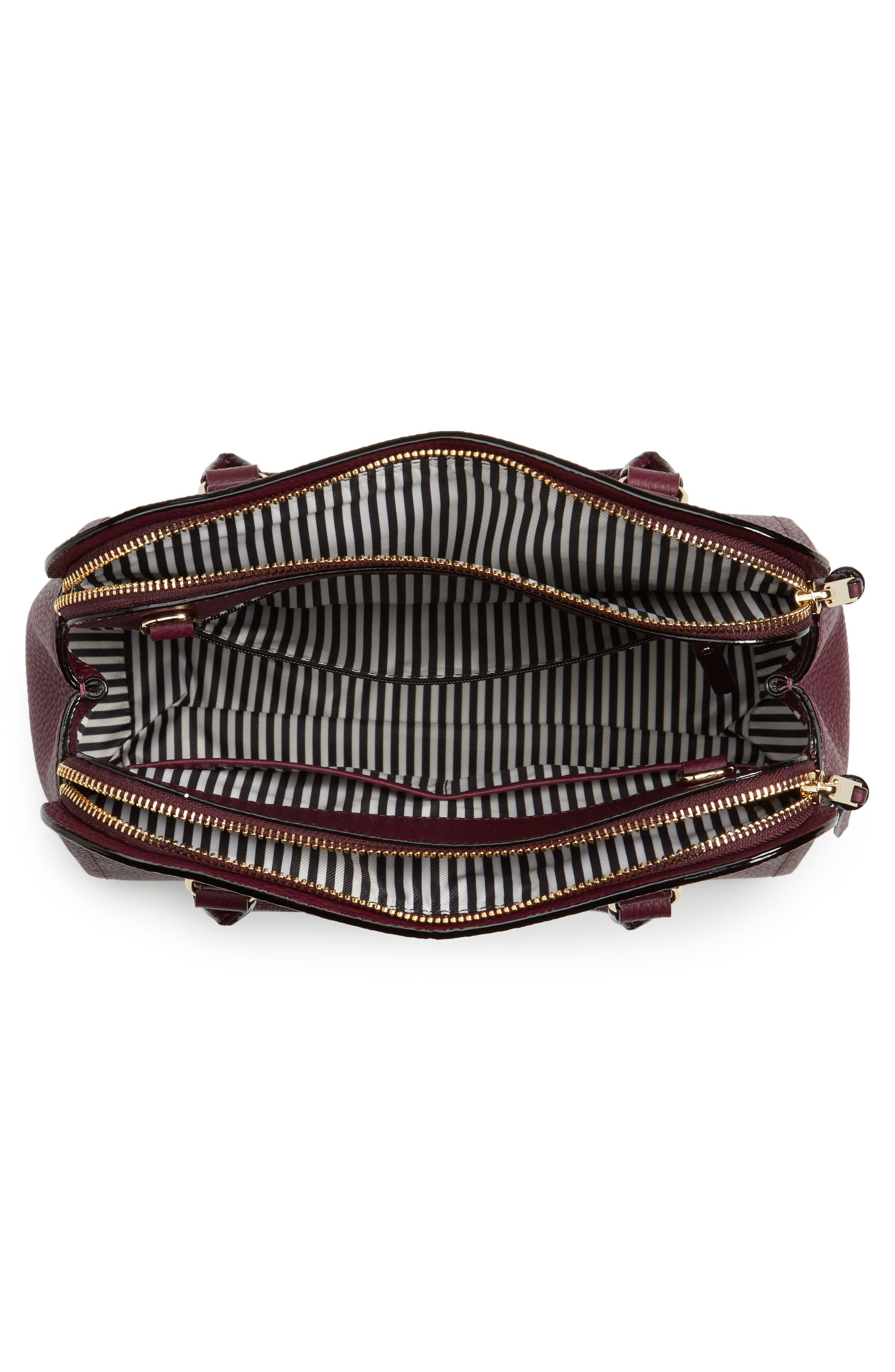 jackson street small kiernan leather top handle satchel,                             Alternate thumbnail 4, color,                             545