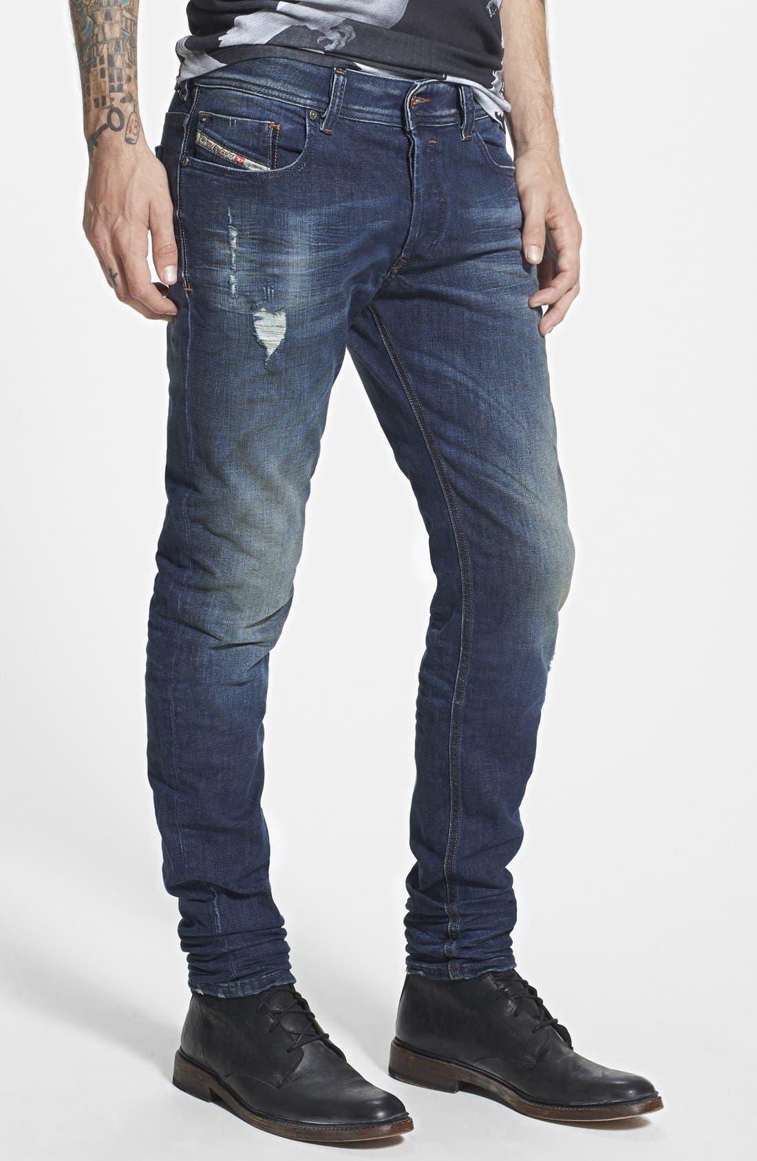 'Sleenker' Skinny Fit Jeans,                             Alternate thumbnail 3, color,                             499