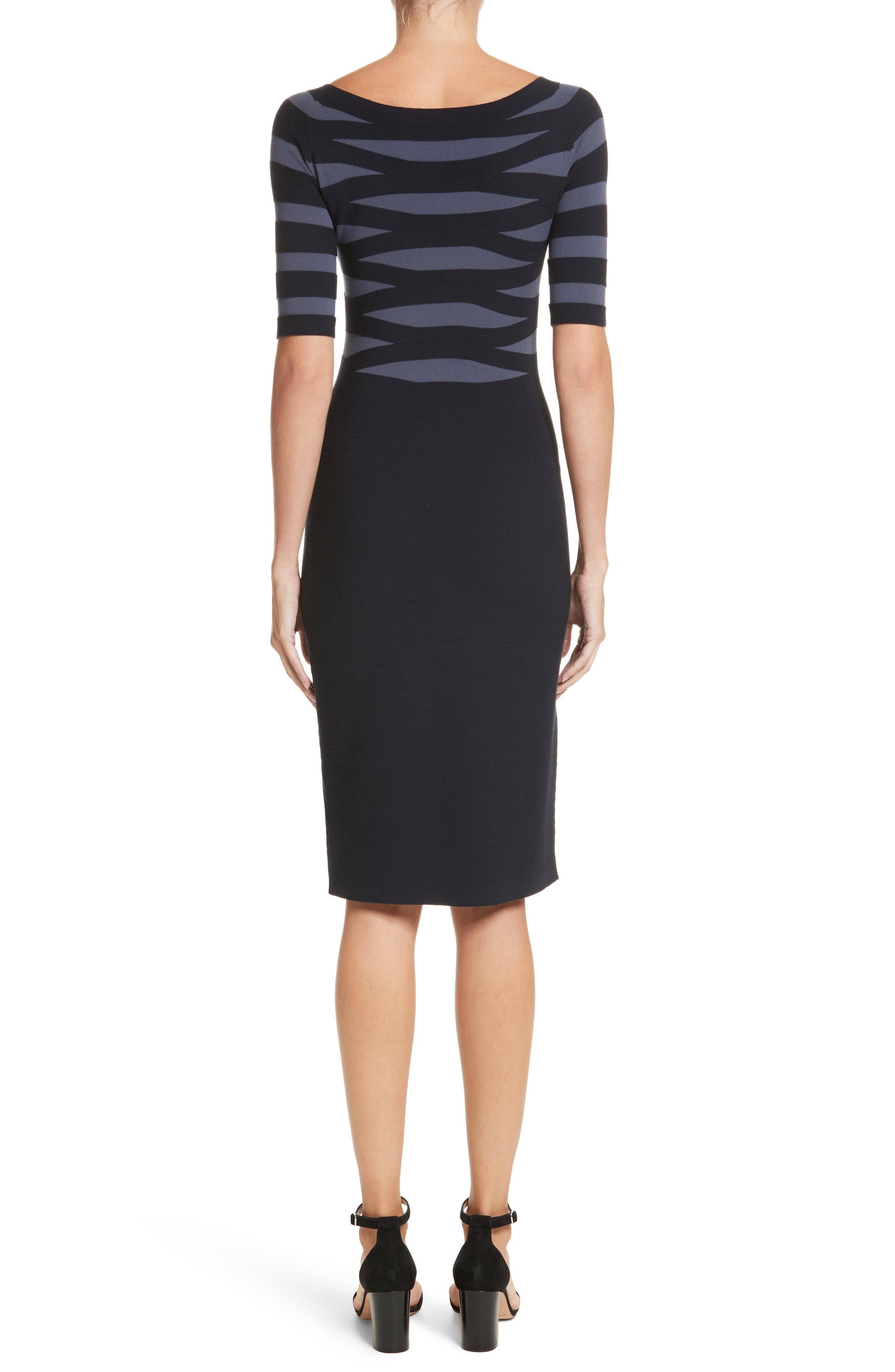 Graphic Stripe Knit Dress,                             Alternate thumbnail 2, color,