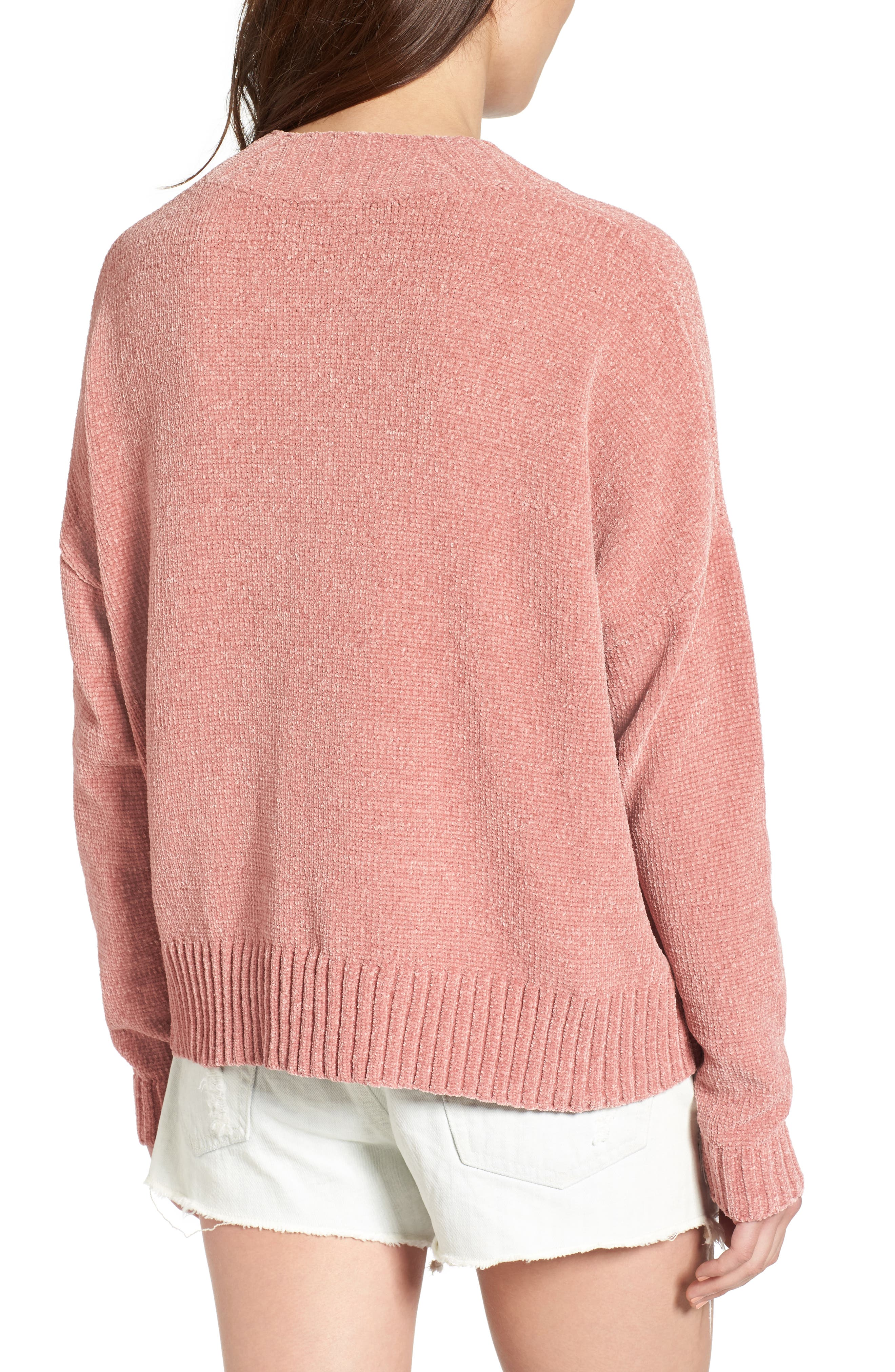 Chenille Funnel Neck Sweater,                             Alternate thumbnail 9, color,