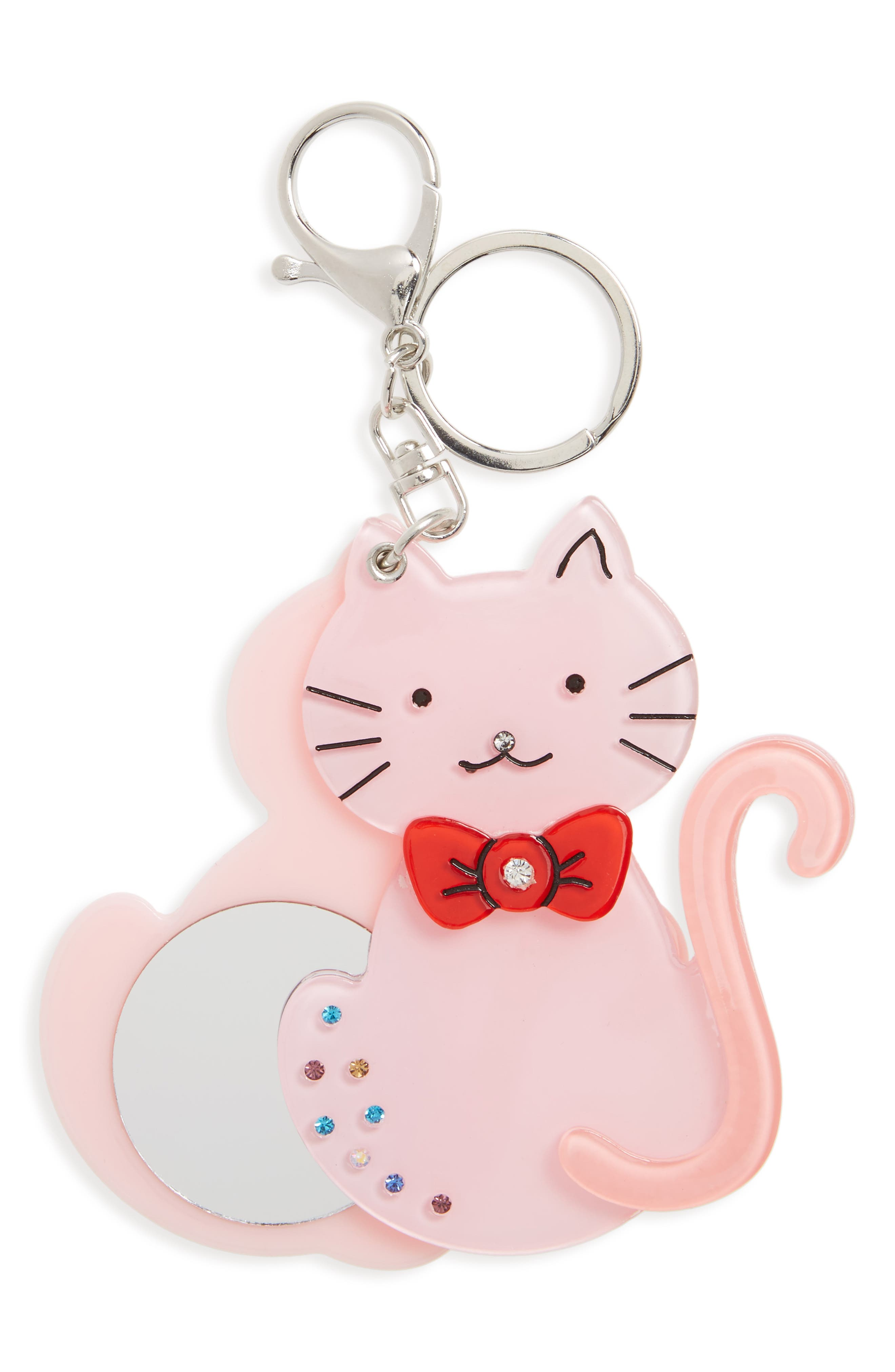 Kitty Mirror Key Chain,                             Main thumbnail 1, color,                             001