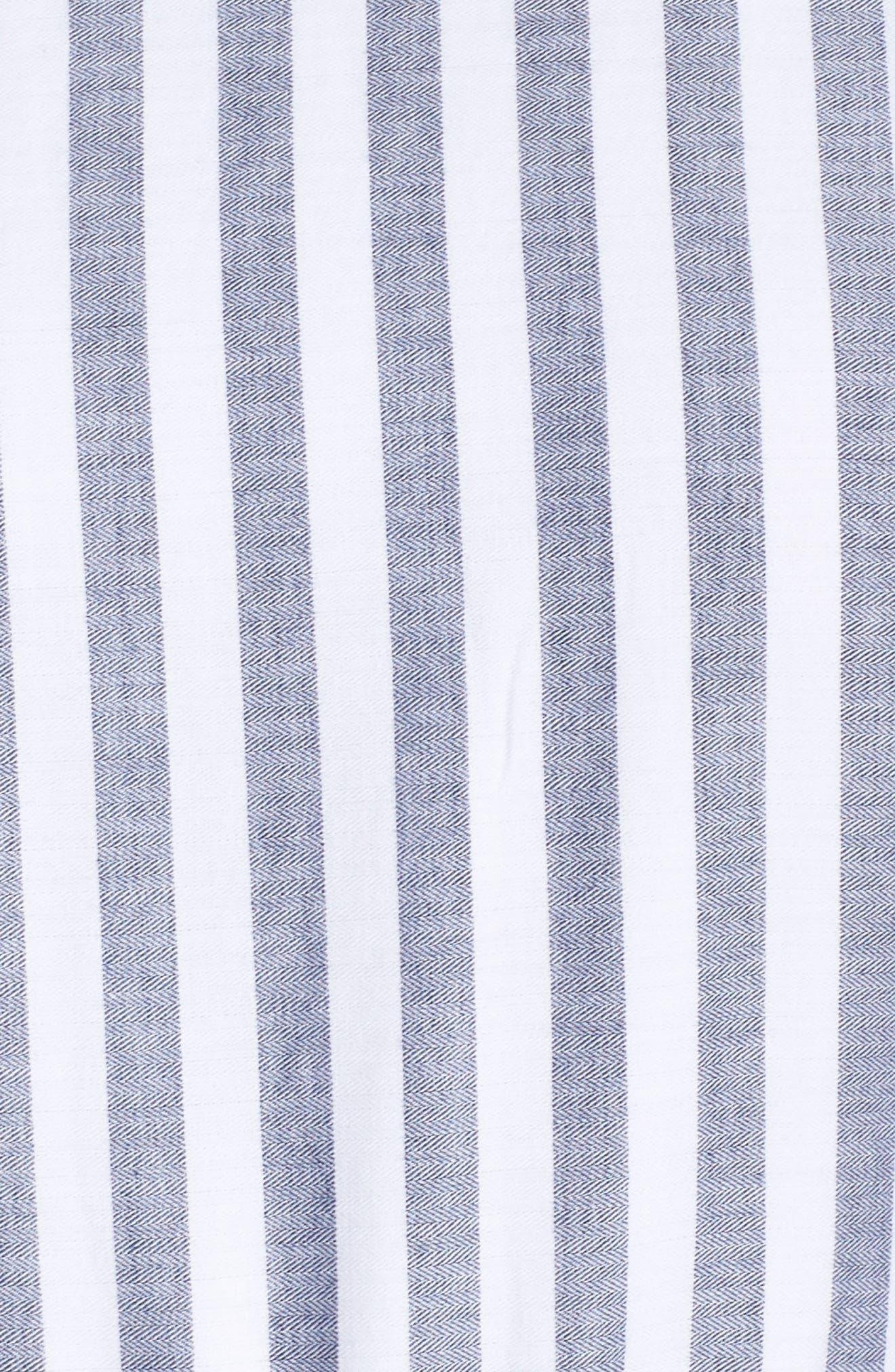 ELIZA J,                             Tiered Tassel Fringe Cotton Maxi Dress,                             Alternate thumbnail 6, color,                             IVORY/ GREY