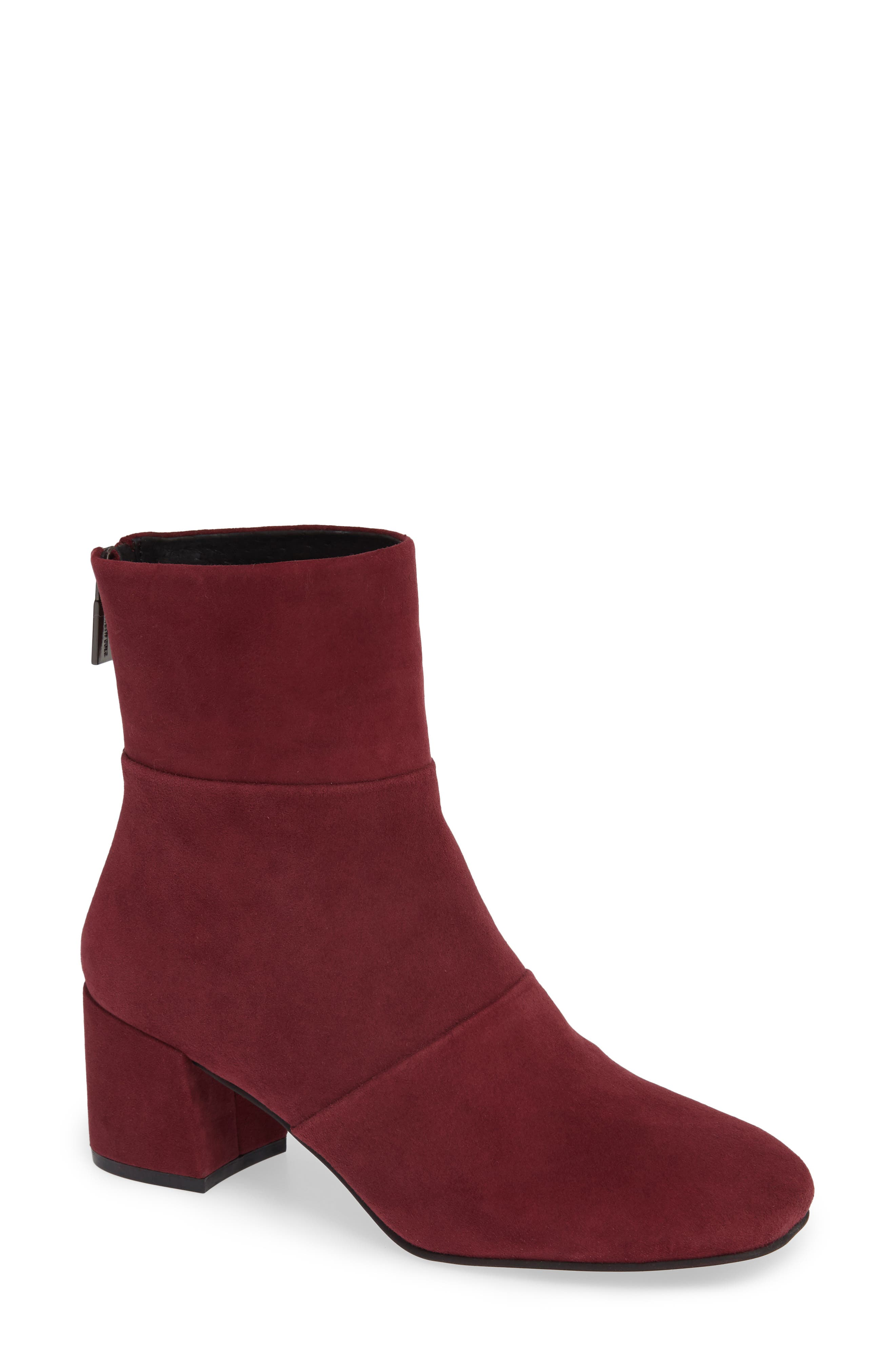 Eryc Bootie,                             Main thumbnail 1, color,                             WINE SUEDE