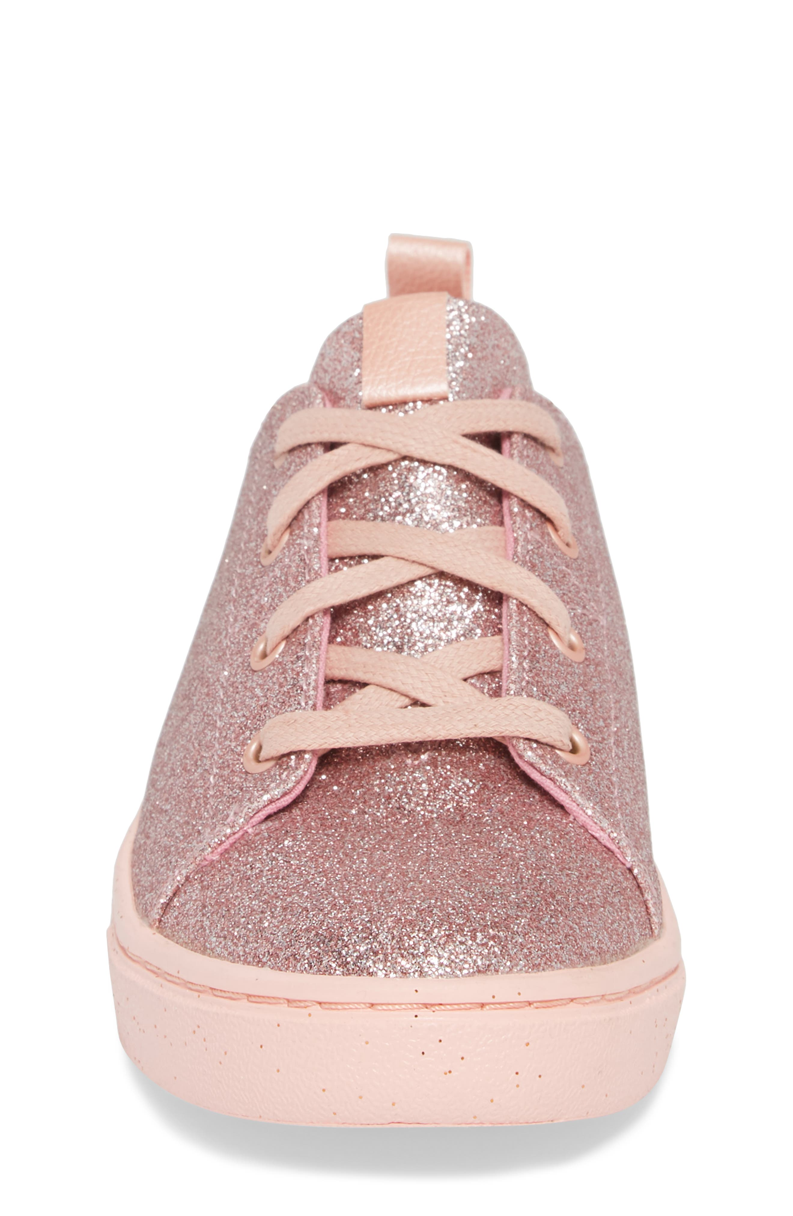 TOMS,                             Lenny Metallic Glitter Sneaker,                             Alternate thumbnail 4, color,                             650