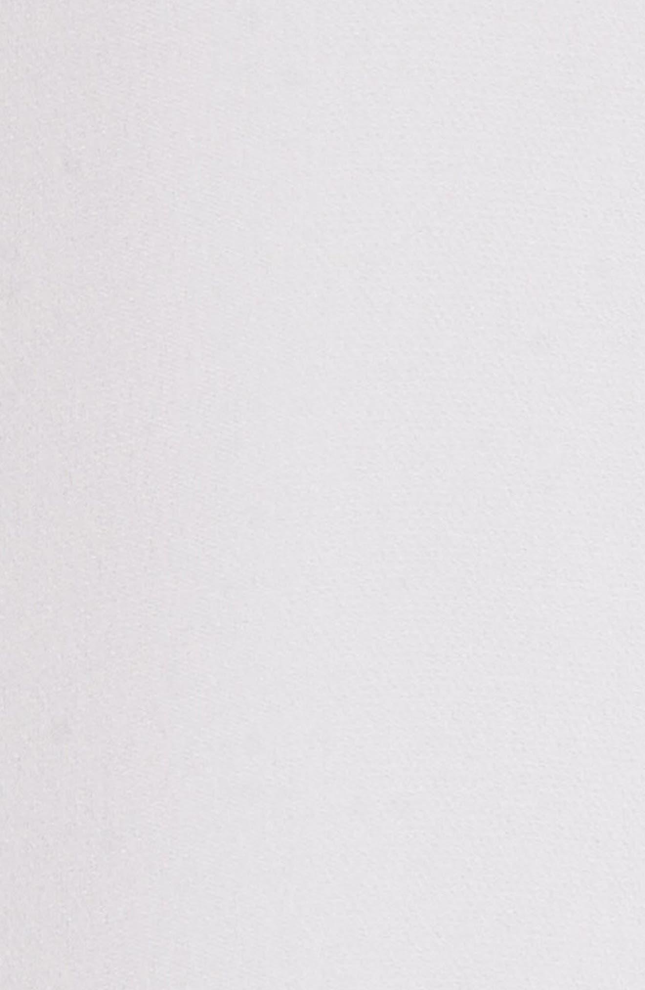 Envelope Sleeve Silk Blouse,                             Alternate thumbnail 5, color,                             OPTIC WHITE