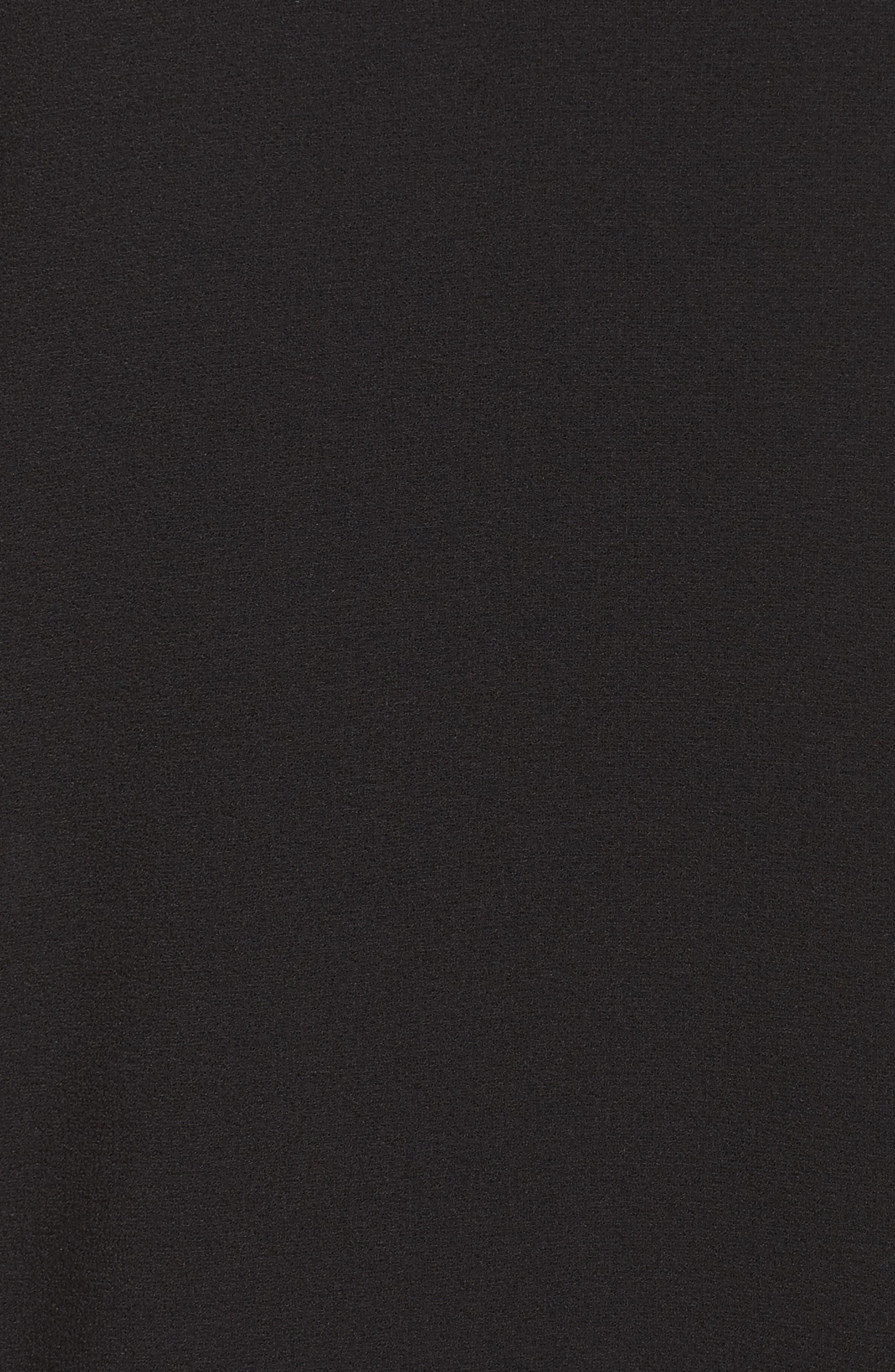 Tiered Ruffle Sleeve Dress,                             Alternate thumbnail 7, color,                             BLACK