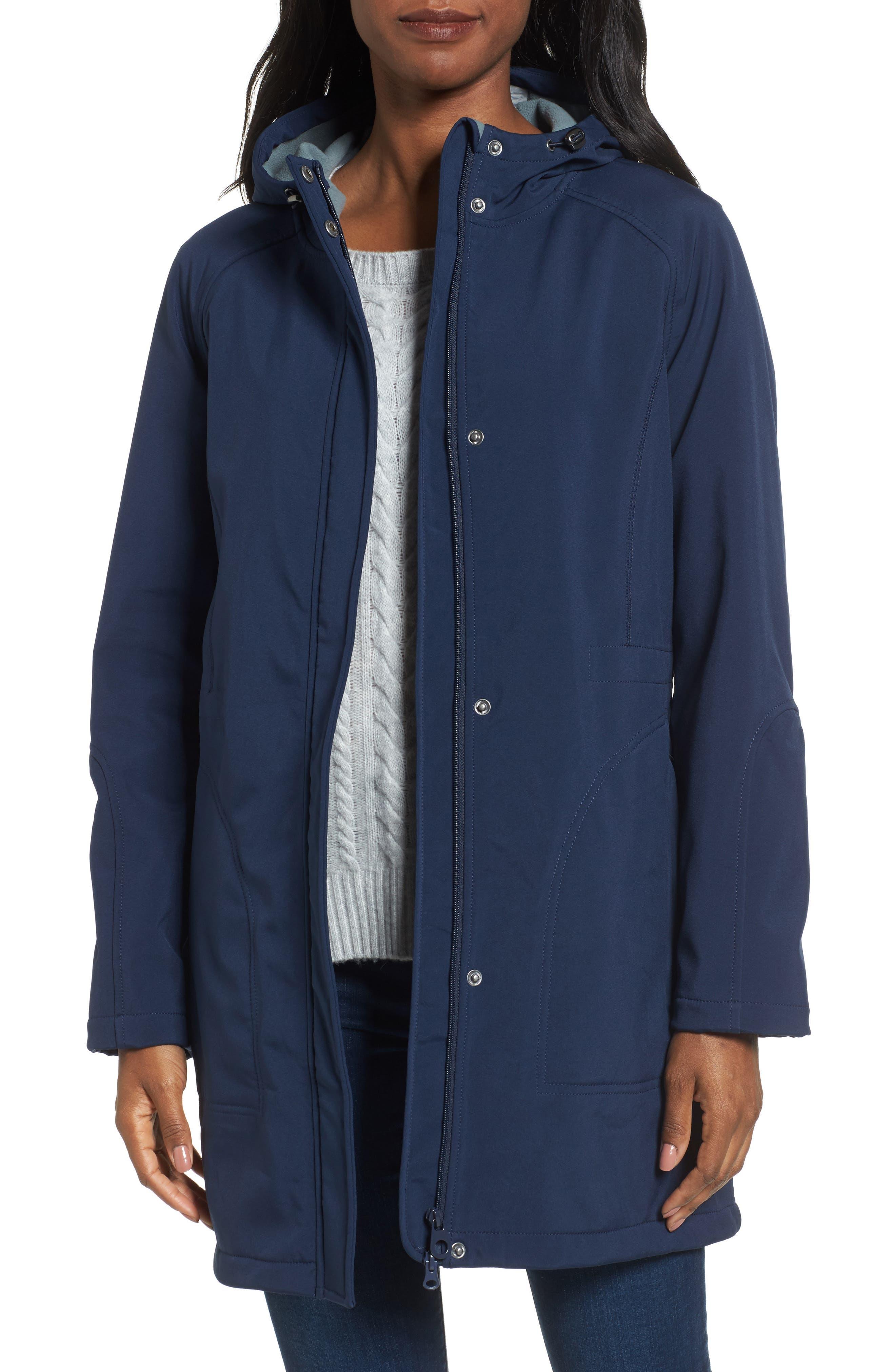 Right as Rain Fleece Lined Raincoat,                             Main thumbnail 1, color,