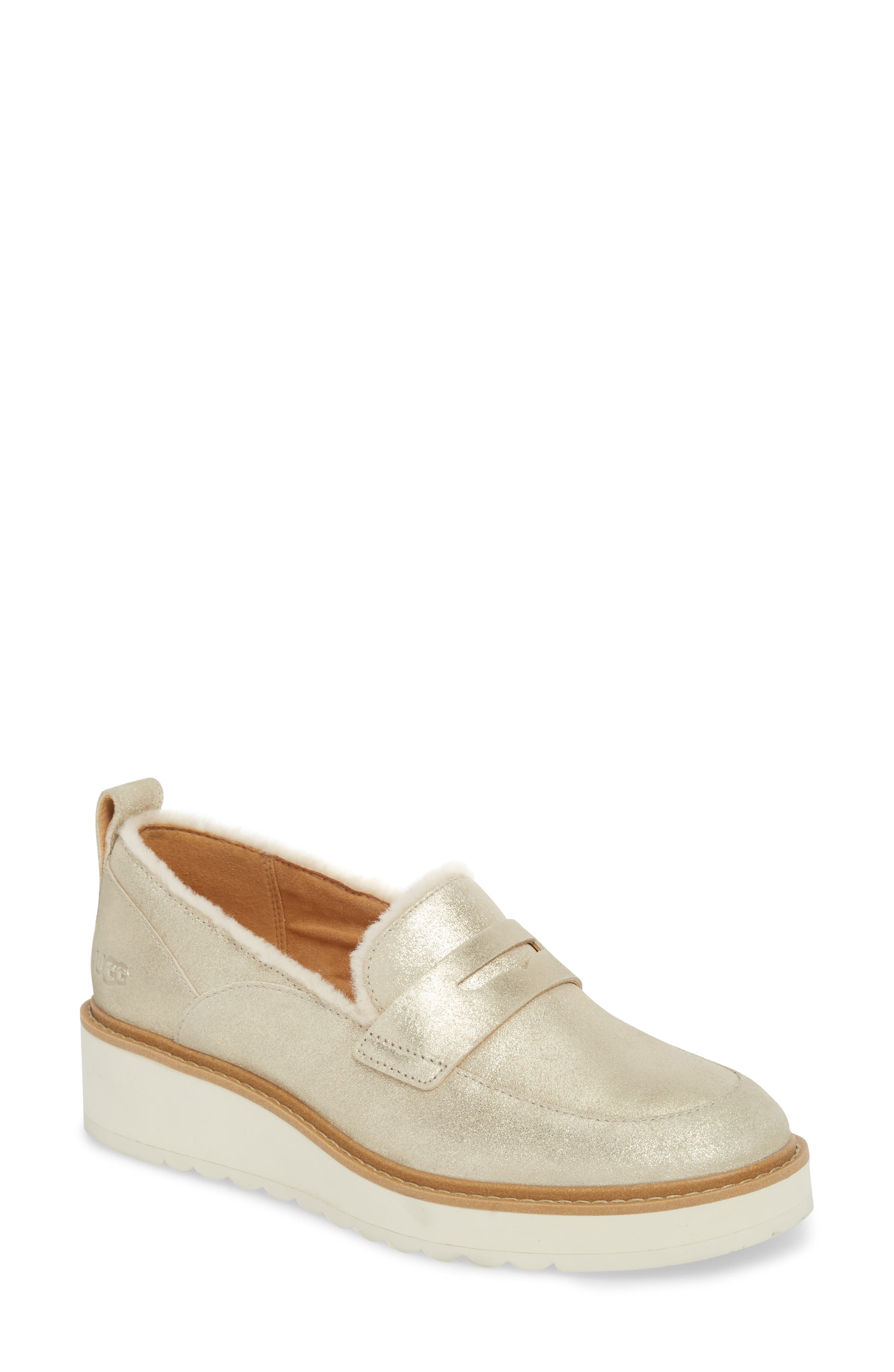 Atwater Metallic Wedge Loafer,                         Main,                         color, 710