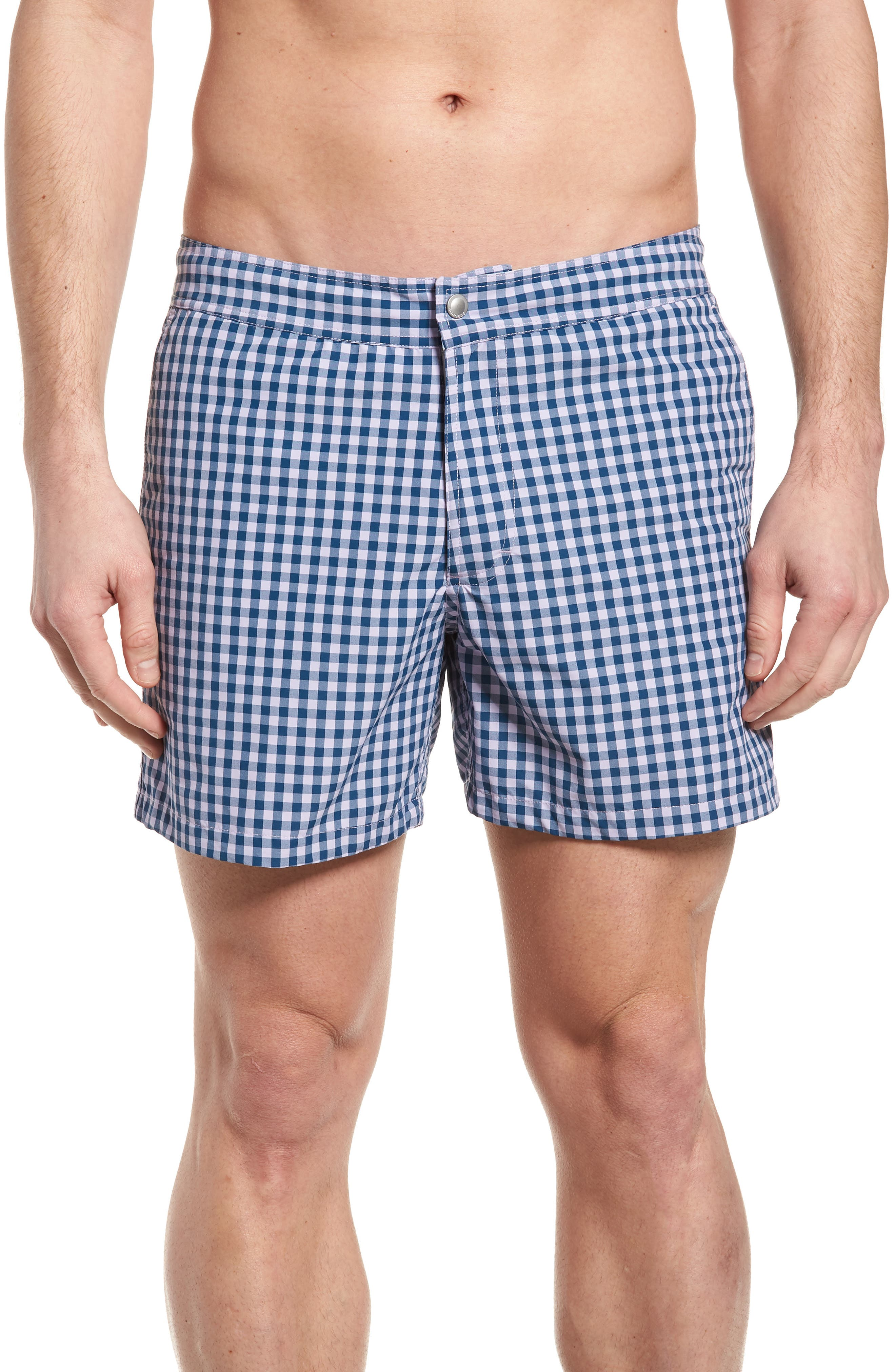 Gingham 5-Inch Swim Trunks,                         Main,                         color, 400