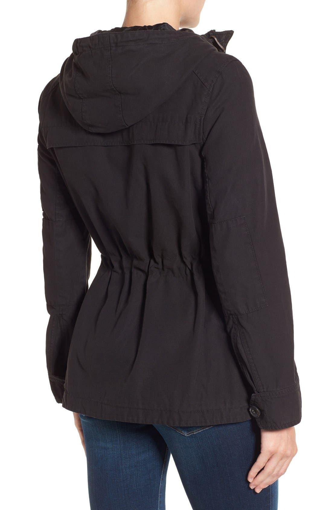 Cotton Twill Utility Jacket,                             Alternate thumbnail 5, color,                             001