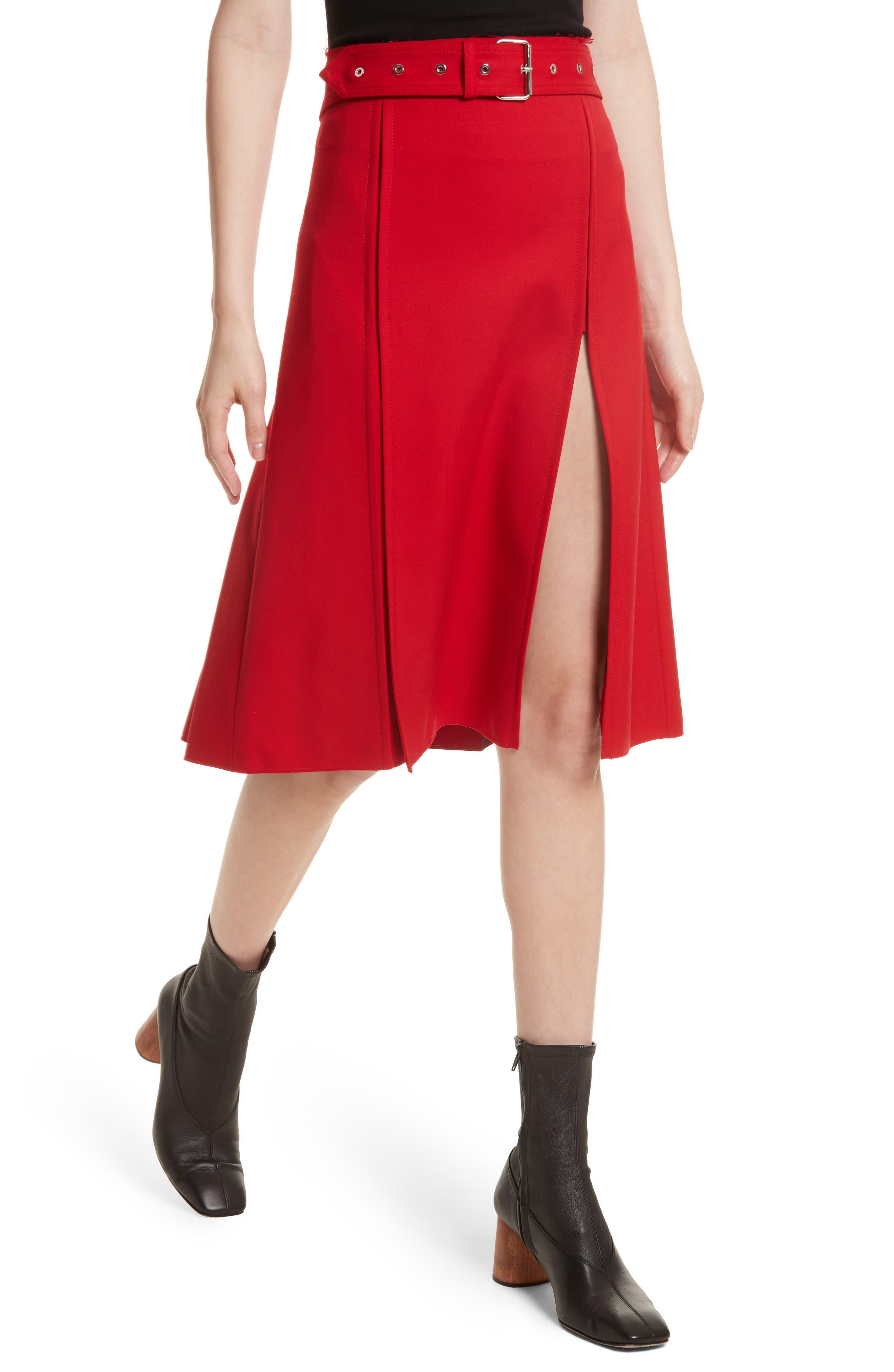Suiting Kilt Skirt,                             Alternate thumbnail 4, color,                             600