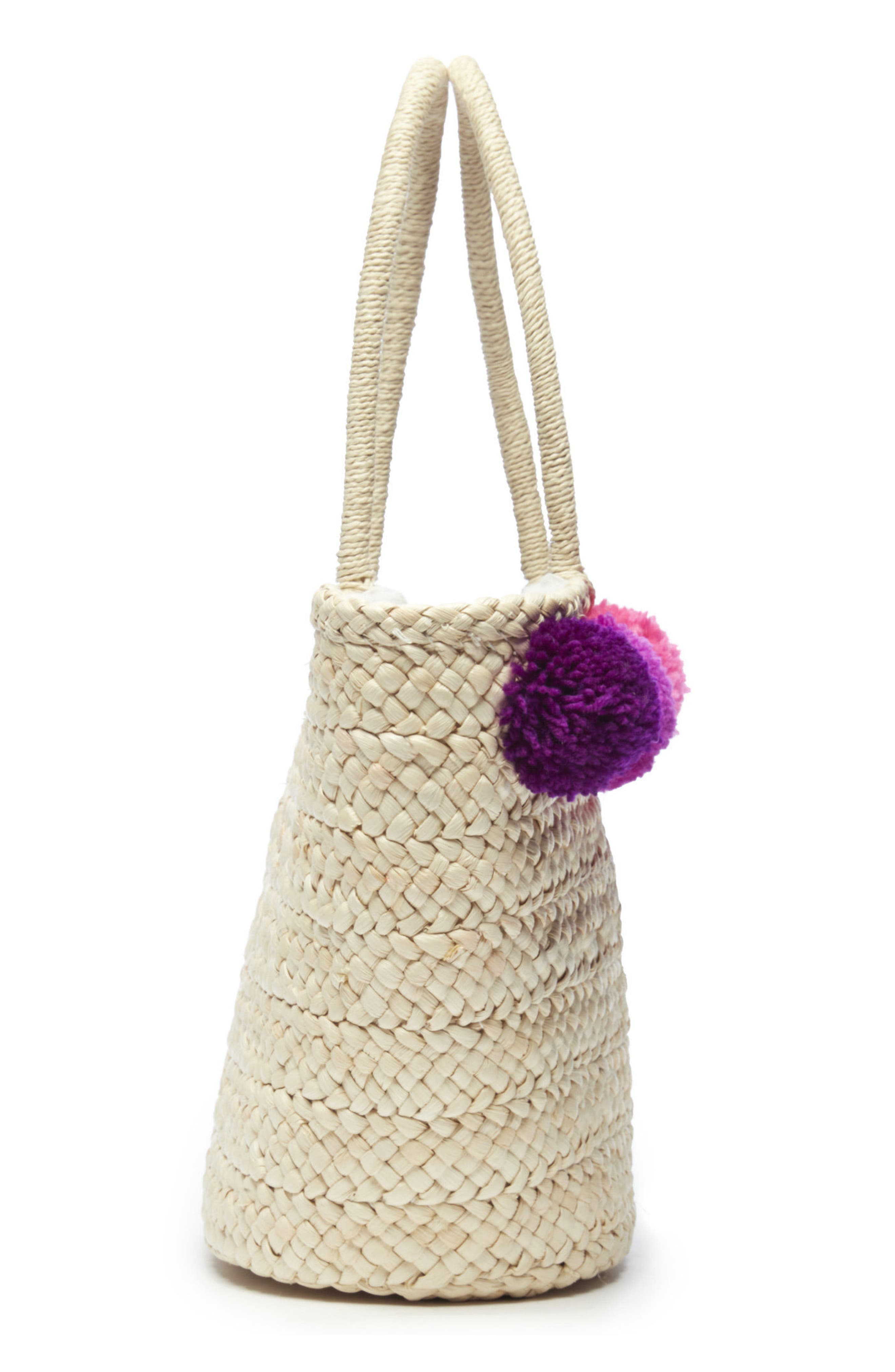 Straw Tote,                             Alternate thumbnail 4, color,                             250