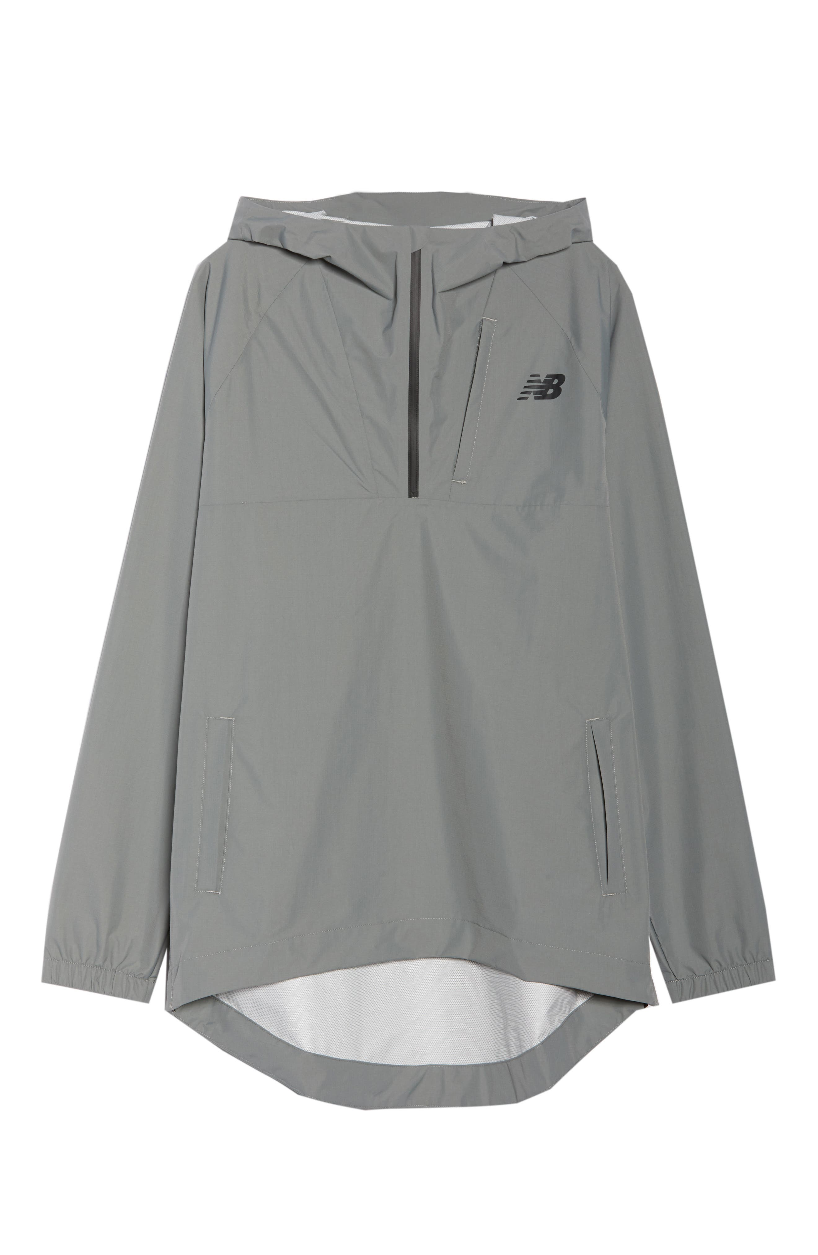 NEW BALANCE,                             247 Luxe Water Resistant Anorak Jacket,                             Alternate thumbnail 7, color,                             GREEN
