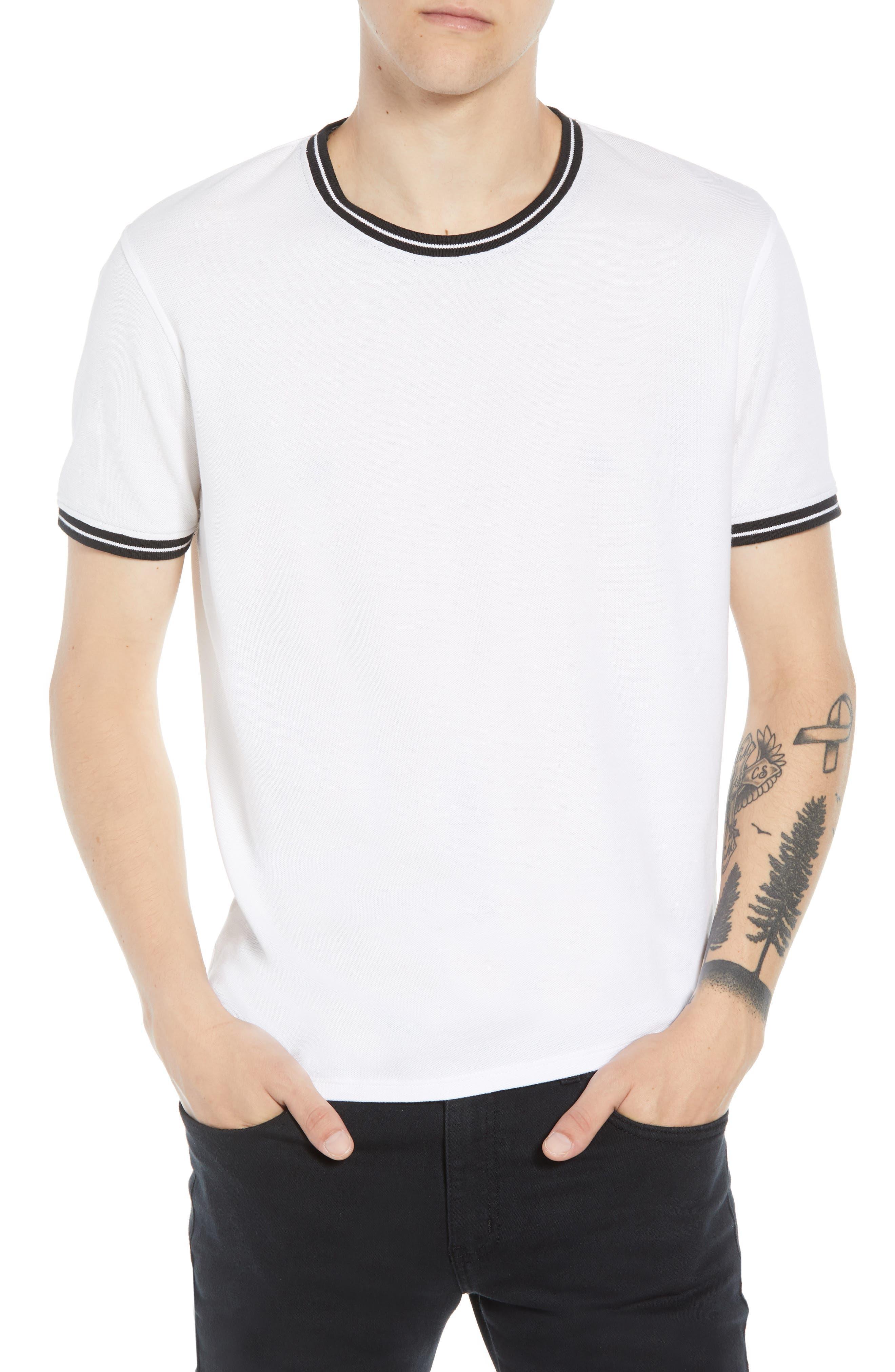 Pique Crewneck T-shirt,                         Main,                         color,