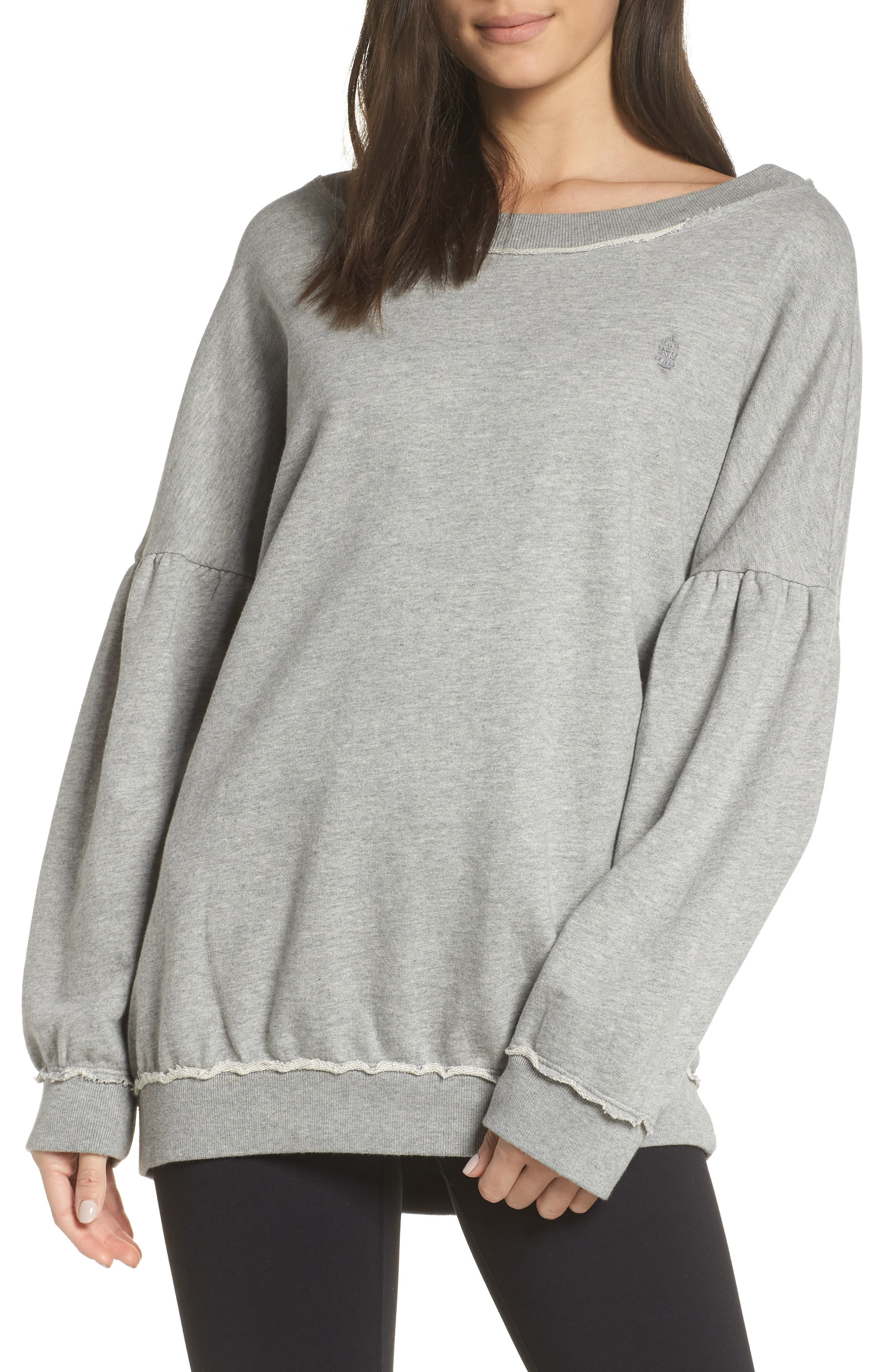 Free People Movement Make It Count Pullover, Grey