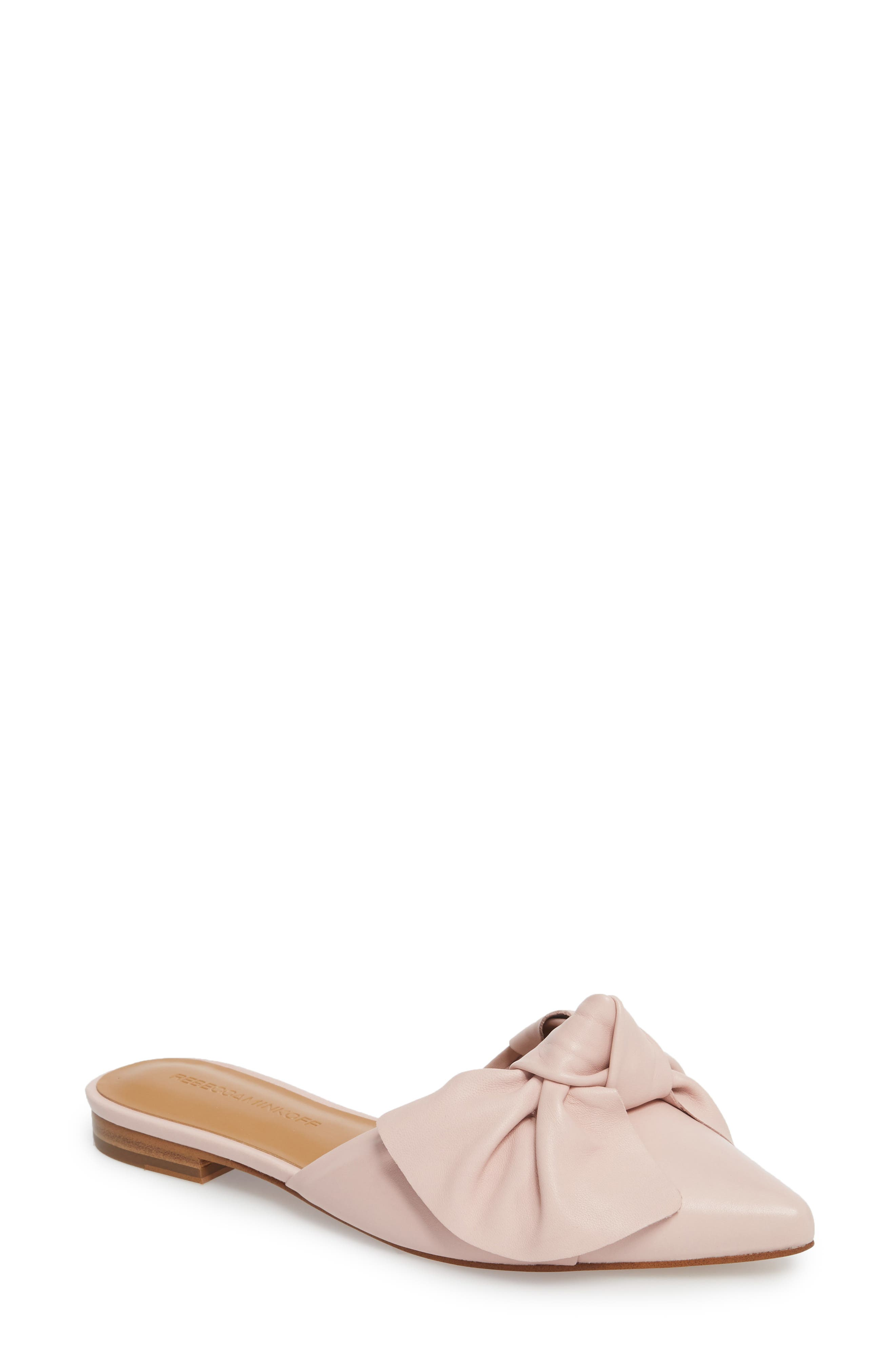 Alexis Bow Mule,                             Main thumbnail 1, color,                             MILLENNIAL PINK LEATHER