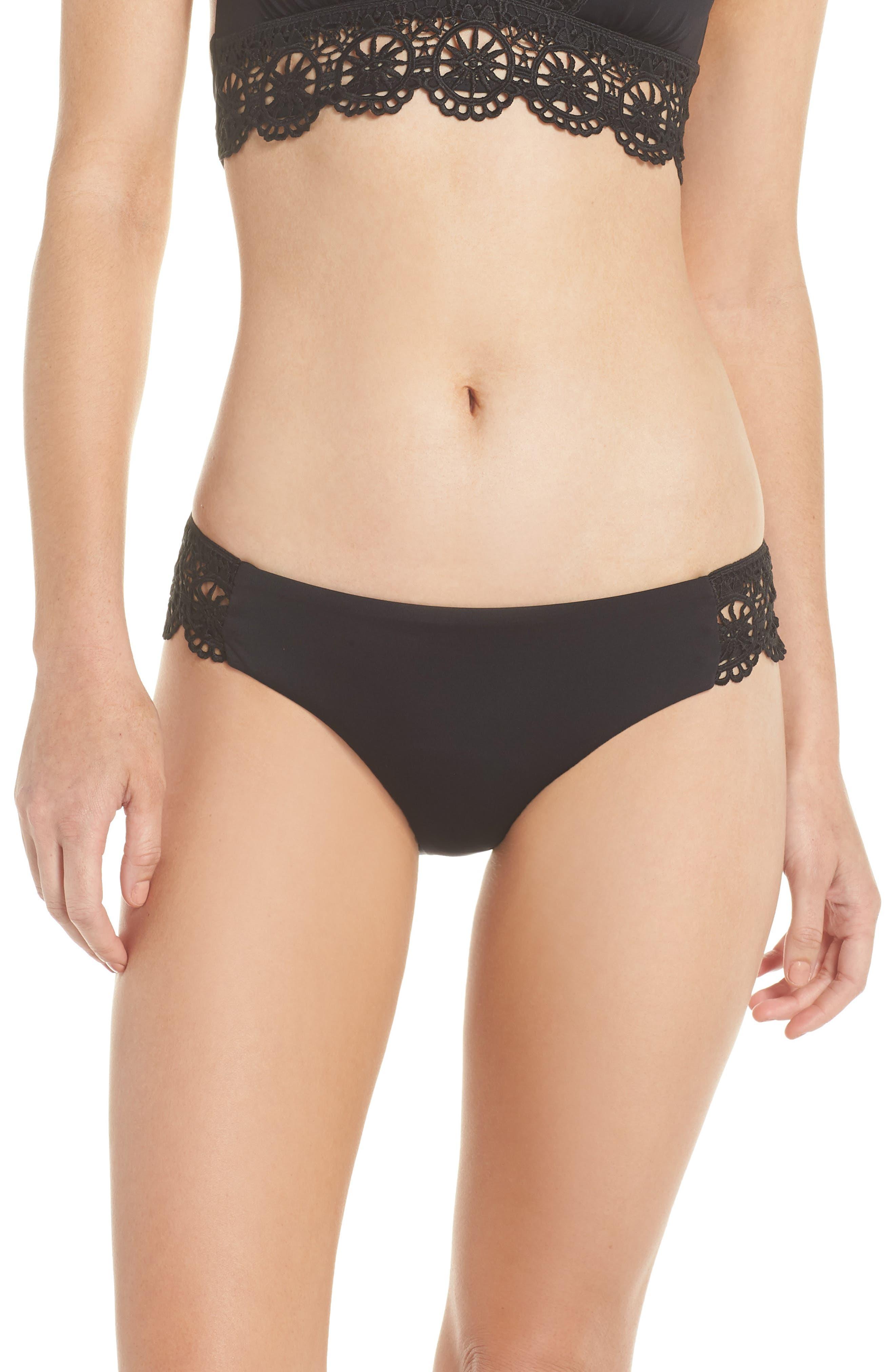 Becca Muse Hipster Bikini Bottoms, Black