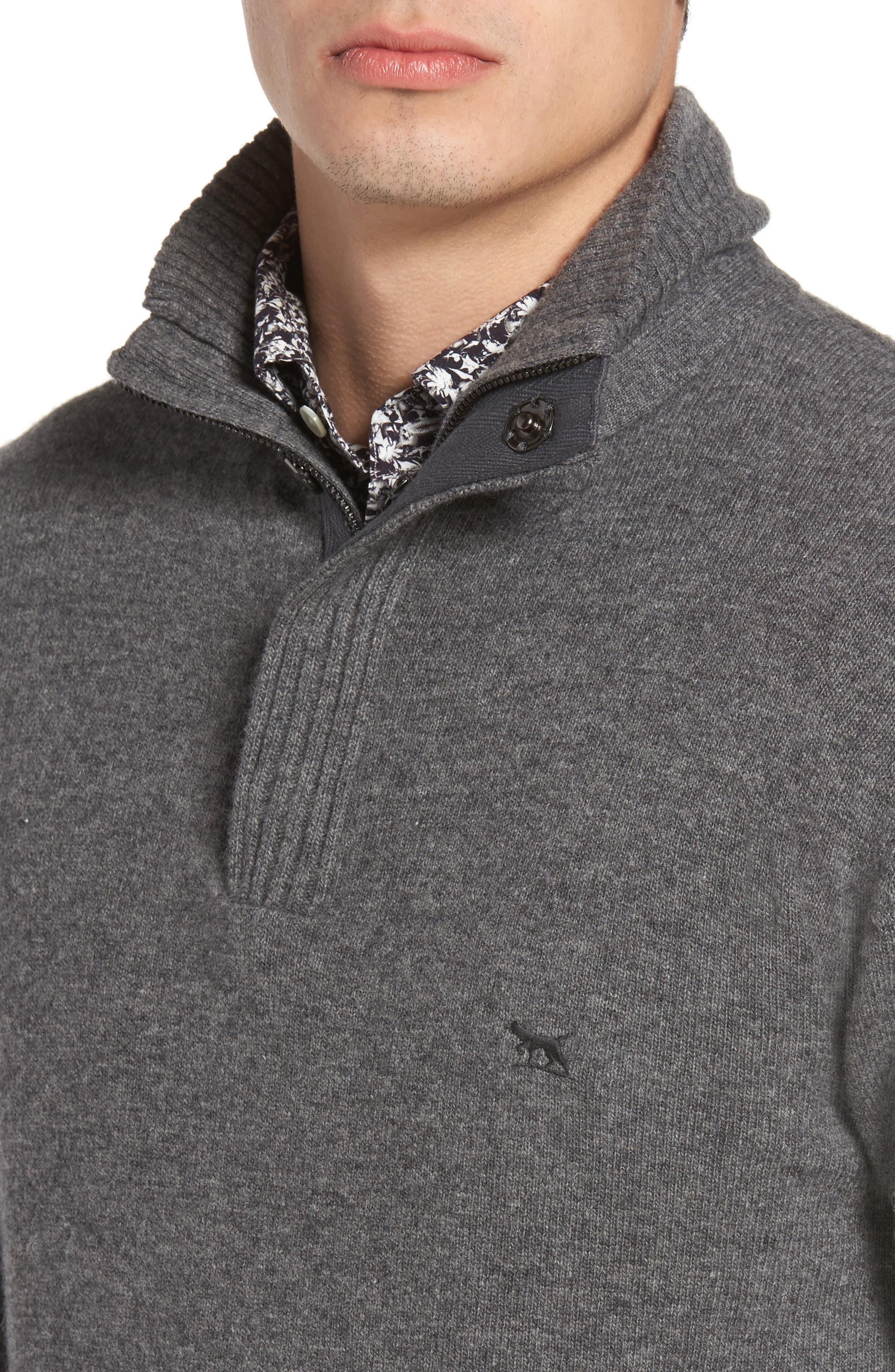 Cape Rodney Lambswool Pullover,                             Alternate thumbnail 4, color,                             CHARCOAL
