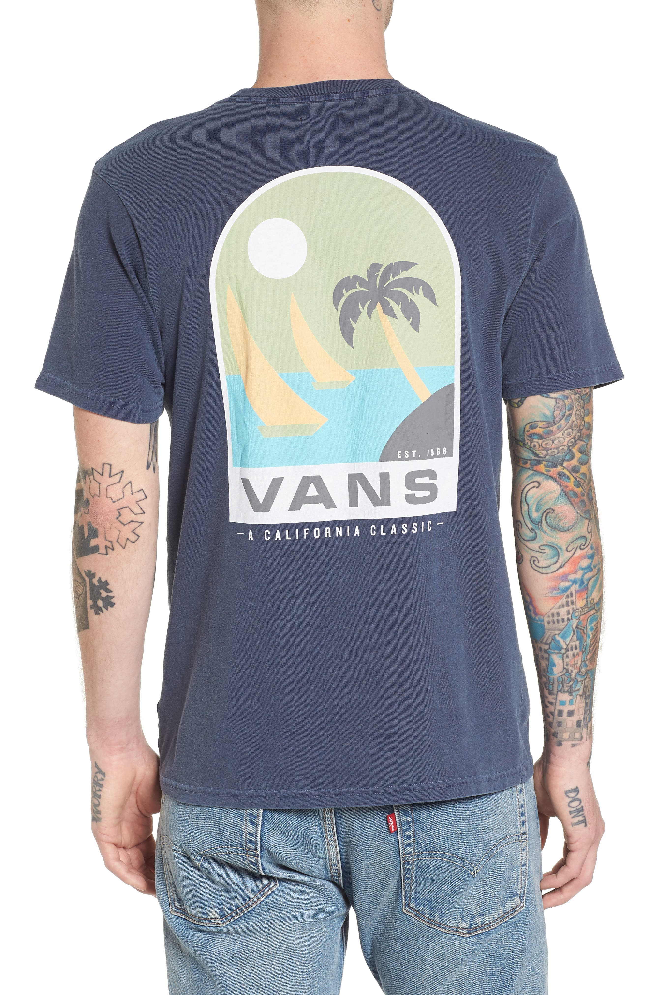 Open Sail Graphic T-Shirt,                             Alternate thumbnail 2, color,                             401
