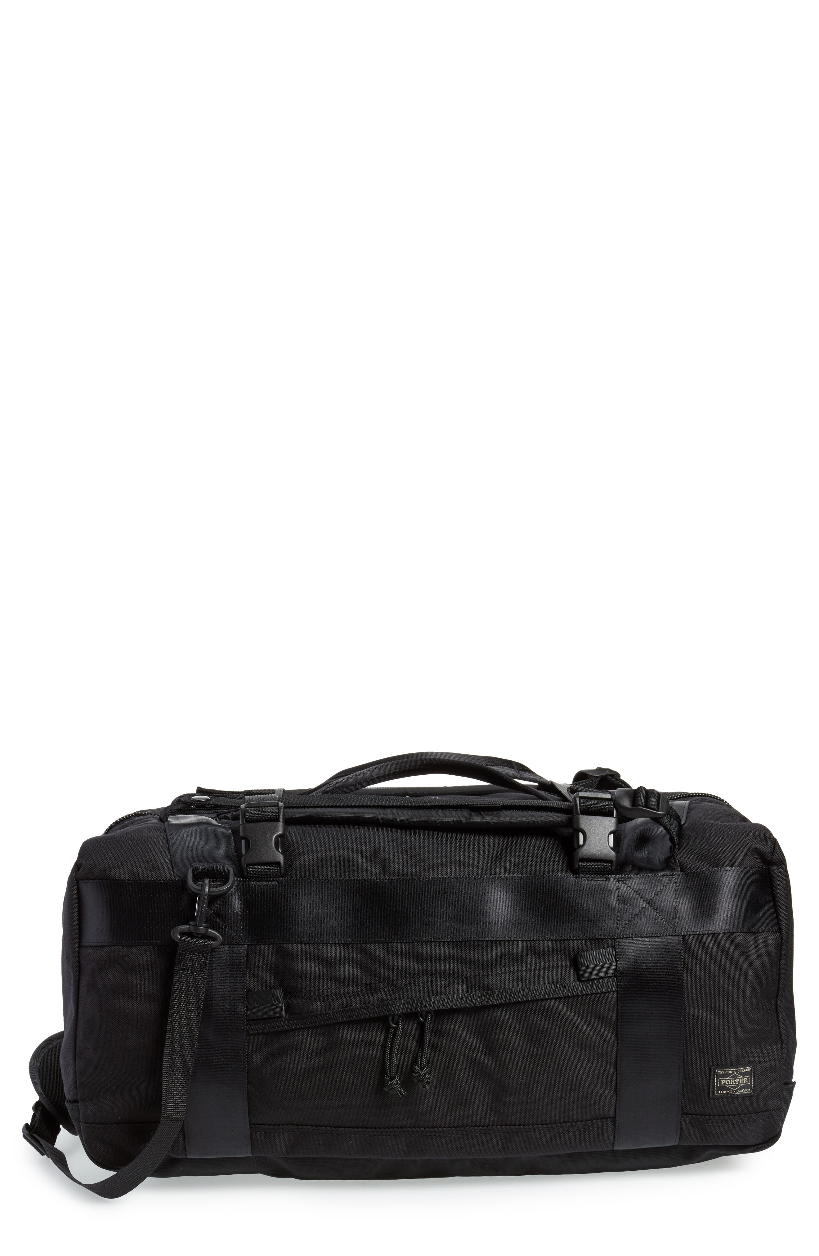 Porter-Yoshida & Co. Boothpack Convertible Duffel Bag,                             Main thumbnail 1, color,                             BLACK
