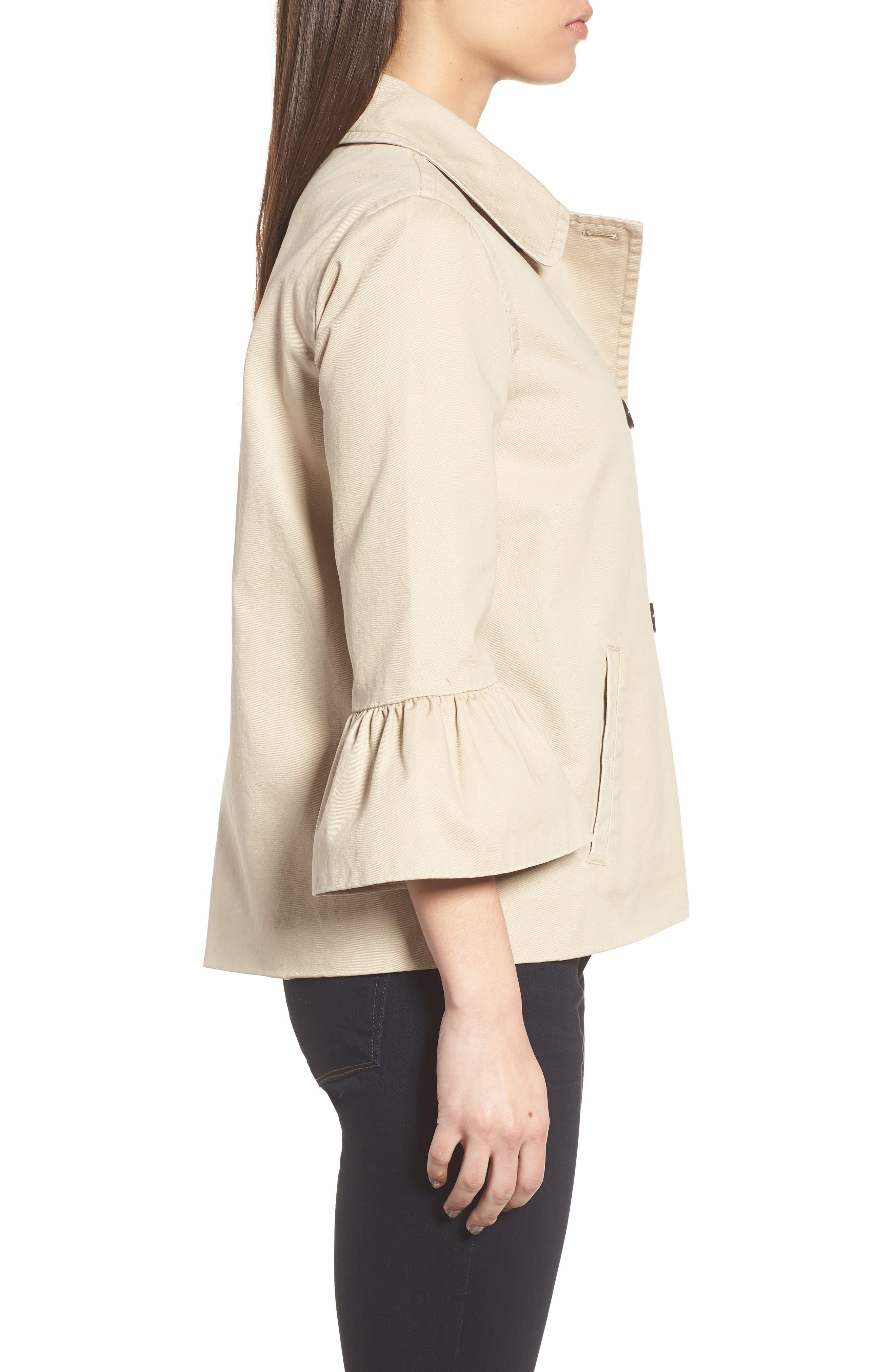 Casual Peplum Sleeve Utility Jacket,                             Alternate thumbnail 3, color,                             265