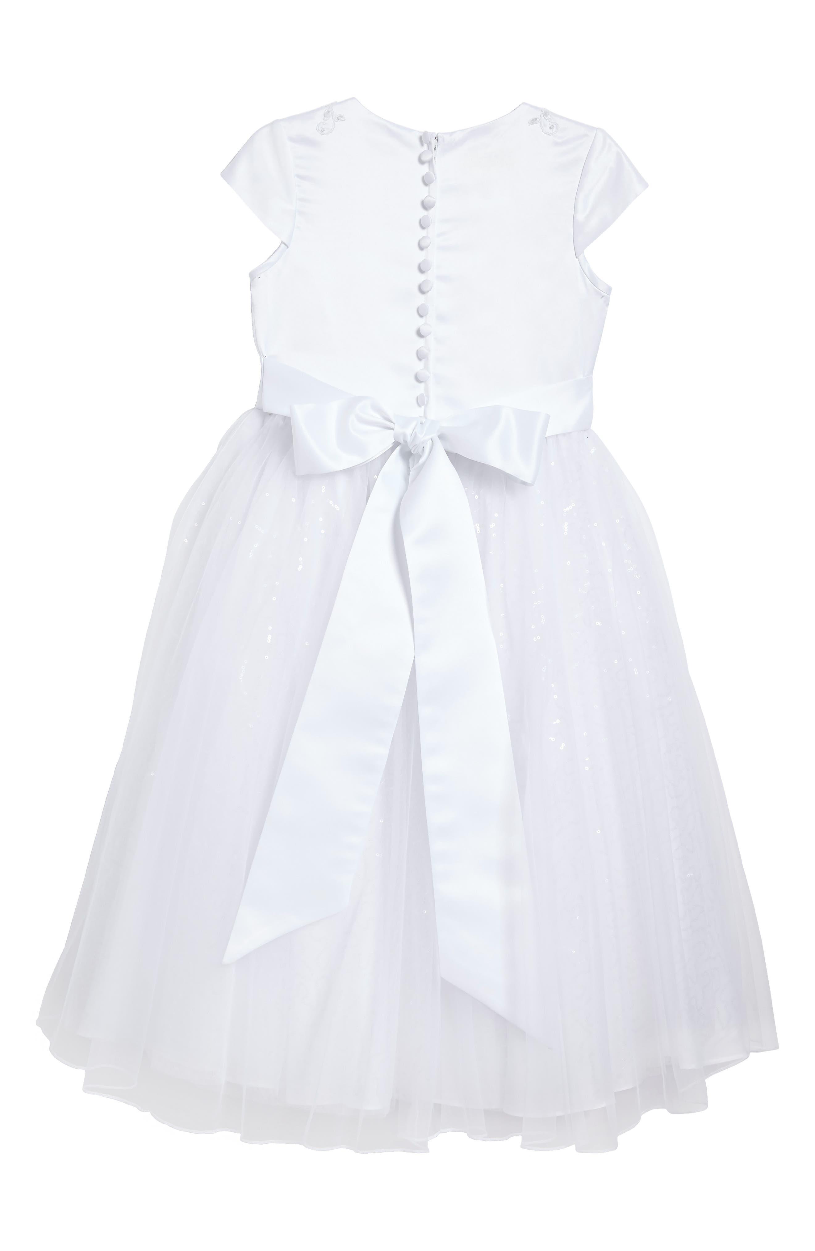 Beaded First Communion Dress,                             Alternate thumbnail 2, color,                             100