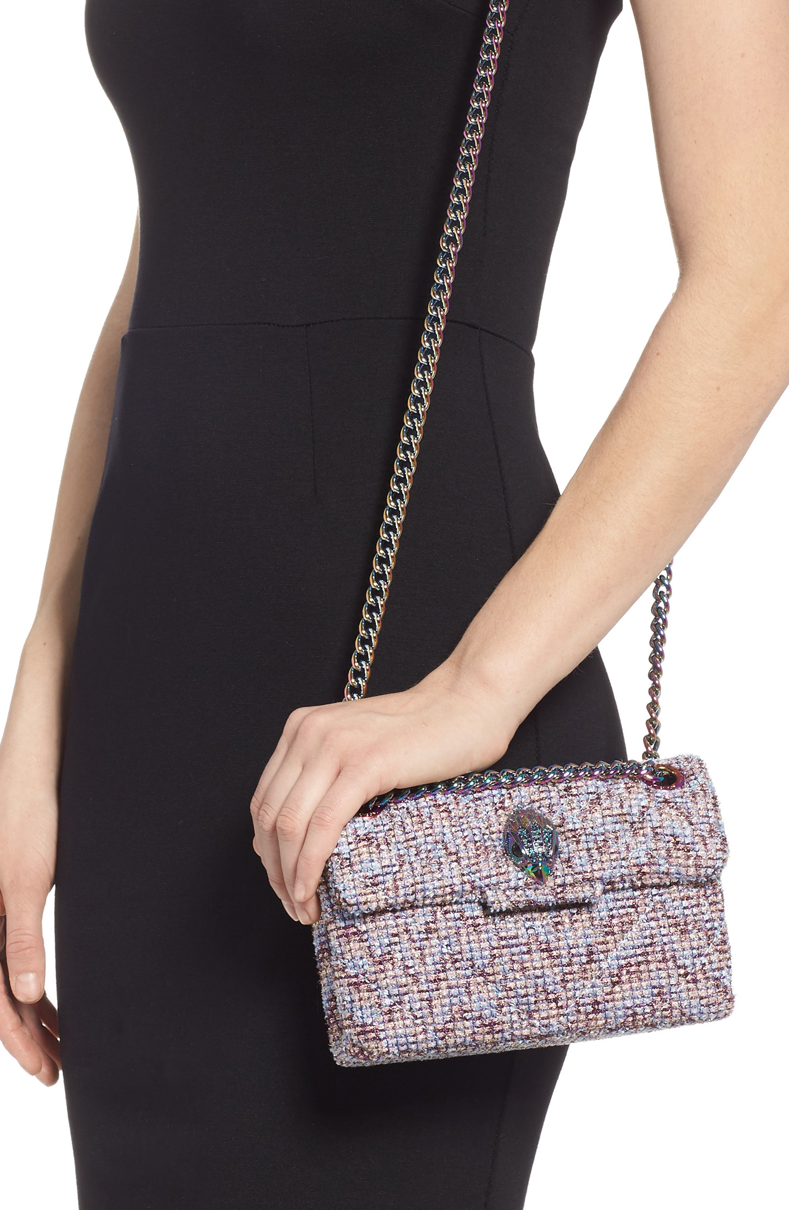 Mini Kensington Tweed Crossbody Bag,                             Alternate thumbnail 2, color,                             PINK
