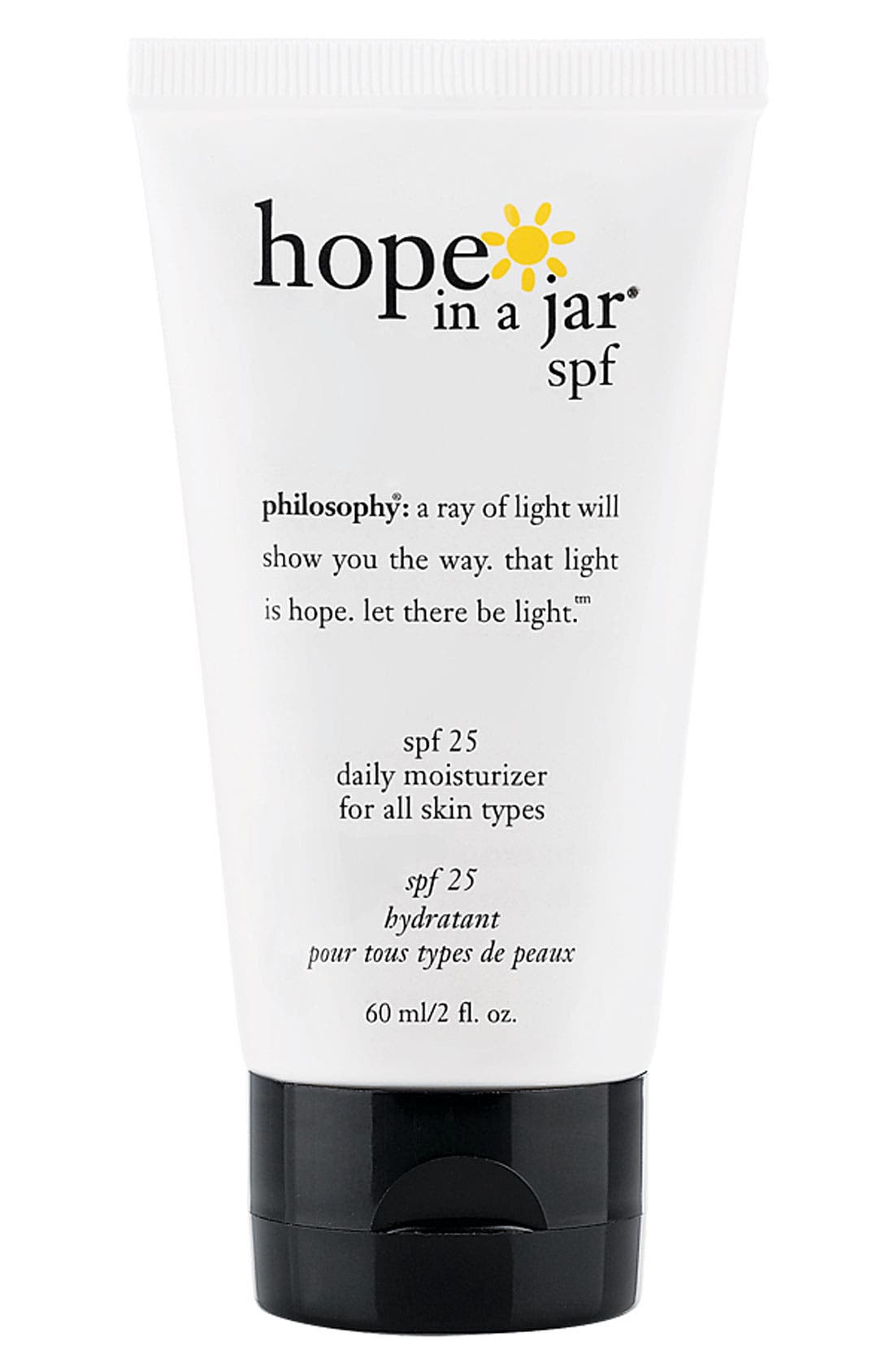 'hope in a jar' daily moisturizer spf 25 for all skin types,                             Main thumbnail 1, color,                             000