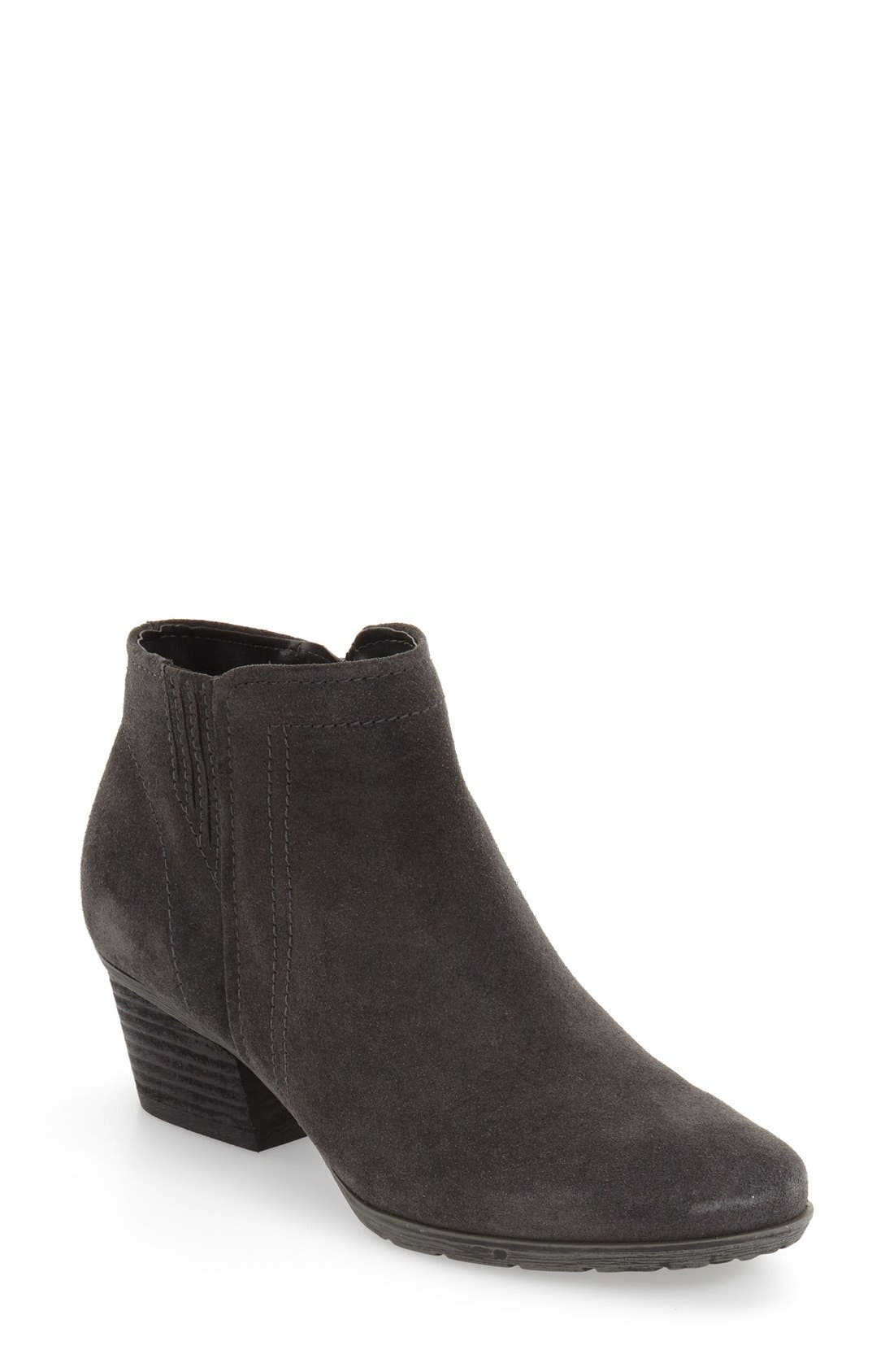 'Valli' Waterproof  Bootie,                         Main,                         color, GREY SUEDE