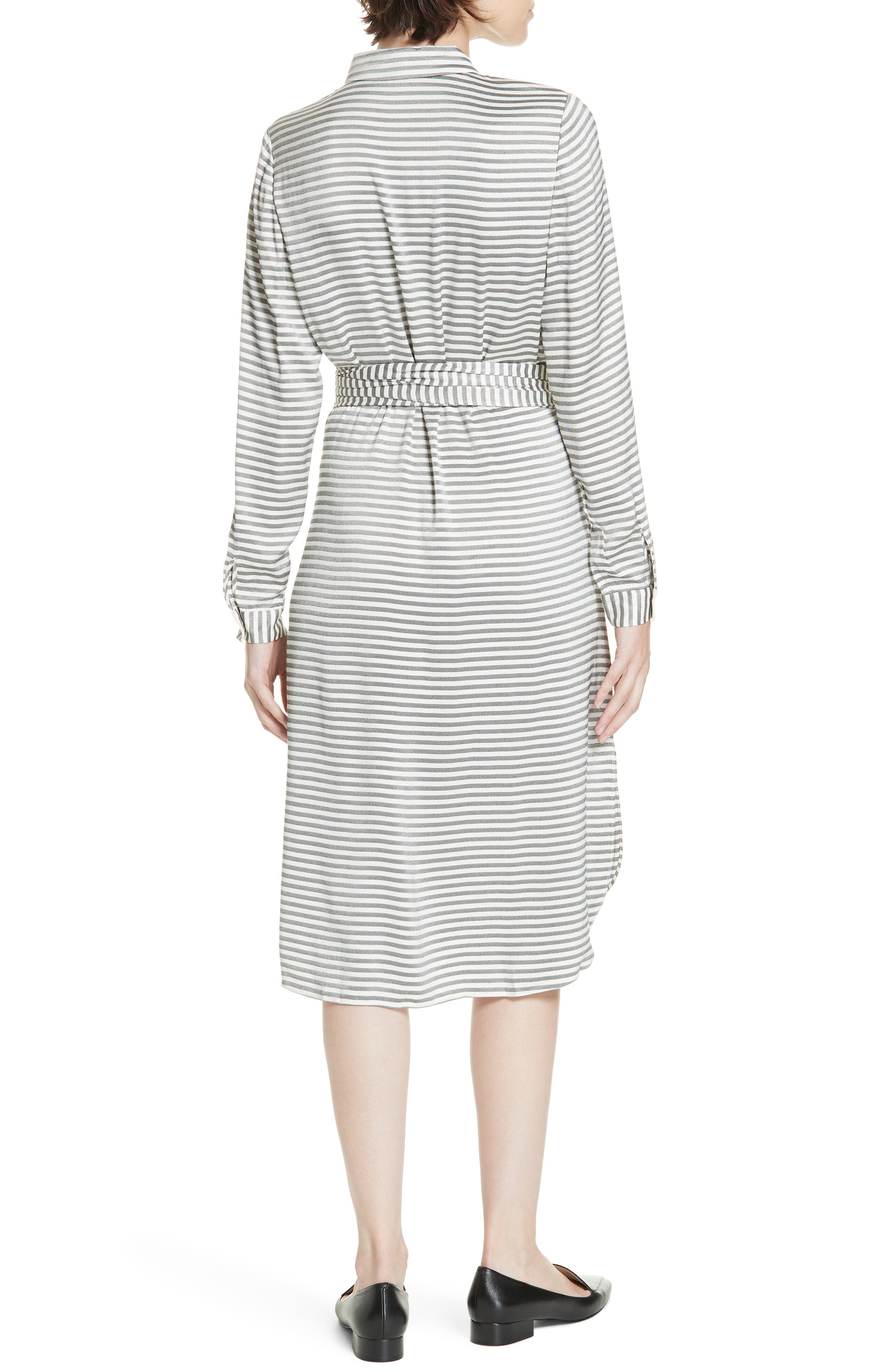 Colour by Numbers Sandre Stripe Shirtdress,                             Alternate thumbnail 2, color,                             905