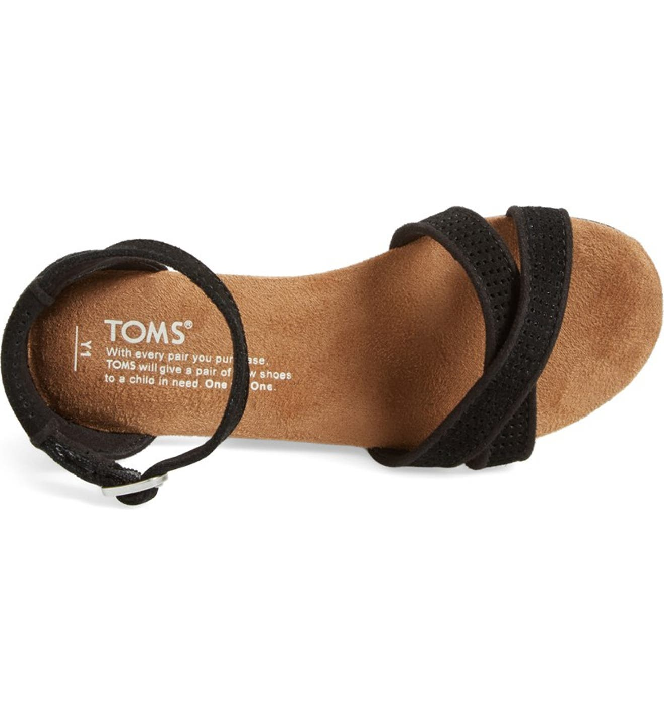909cce4fa684 TOMS  Correa - Youth  Suede Sandal (Toddler