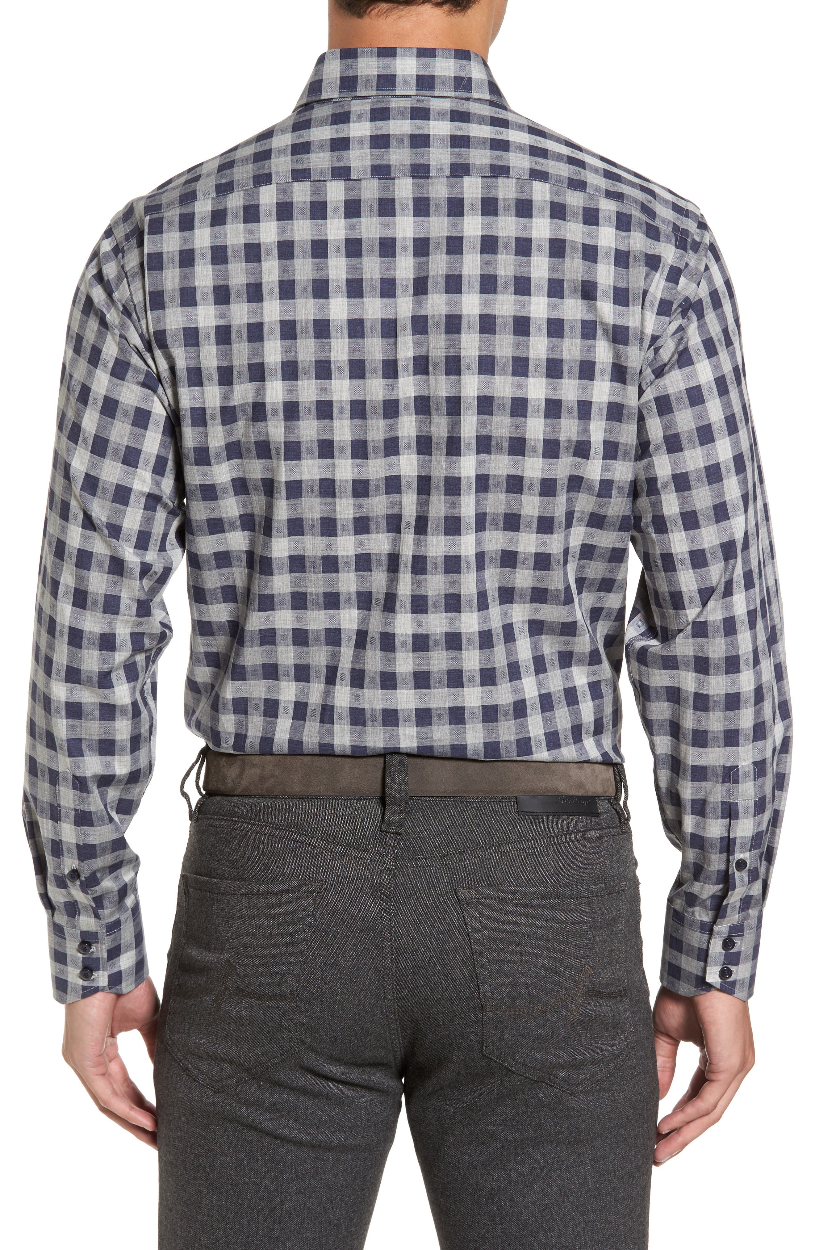 Regular Fit Check Sport Shirt,                             Alternate thumbnail 2, color,                             410