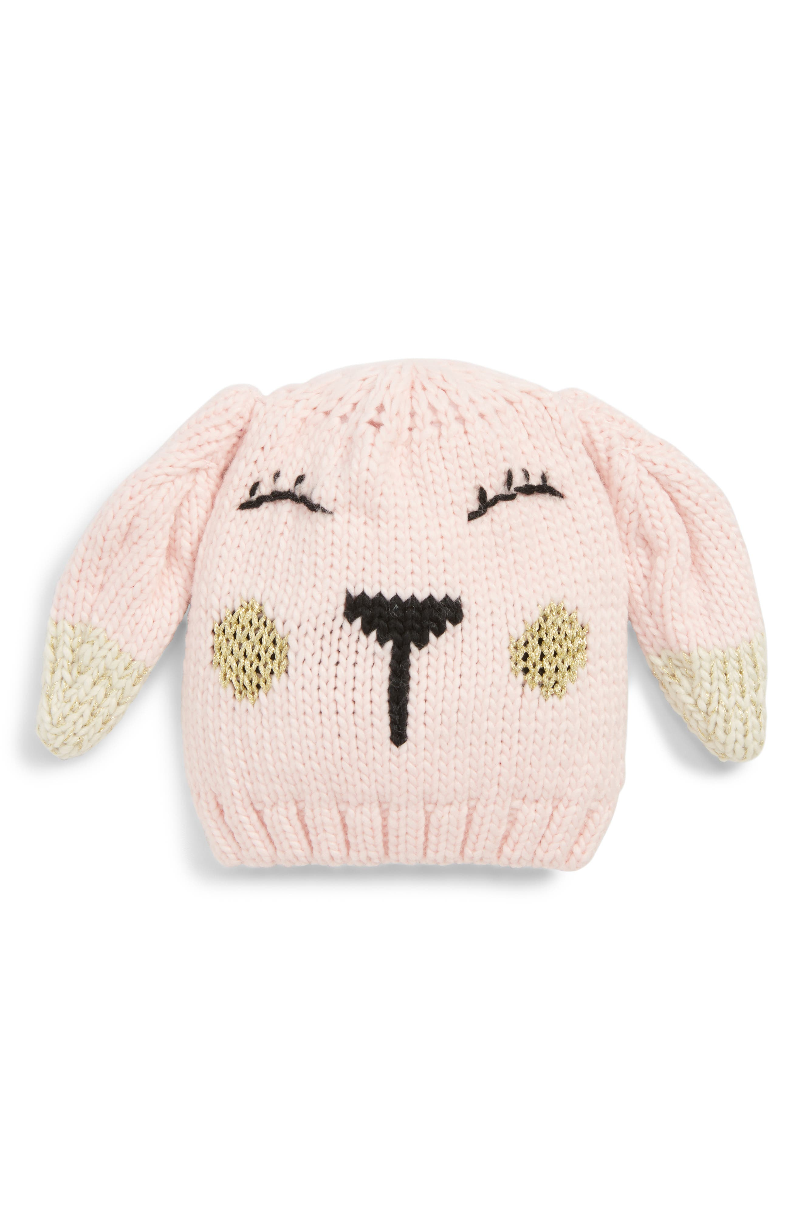 Bunny Beanie,                         Main,                         color, PINK CHINTZ BUNNY